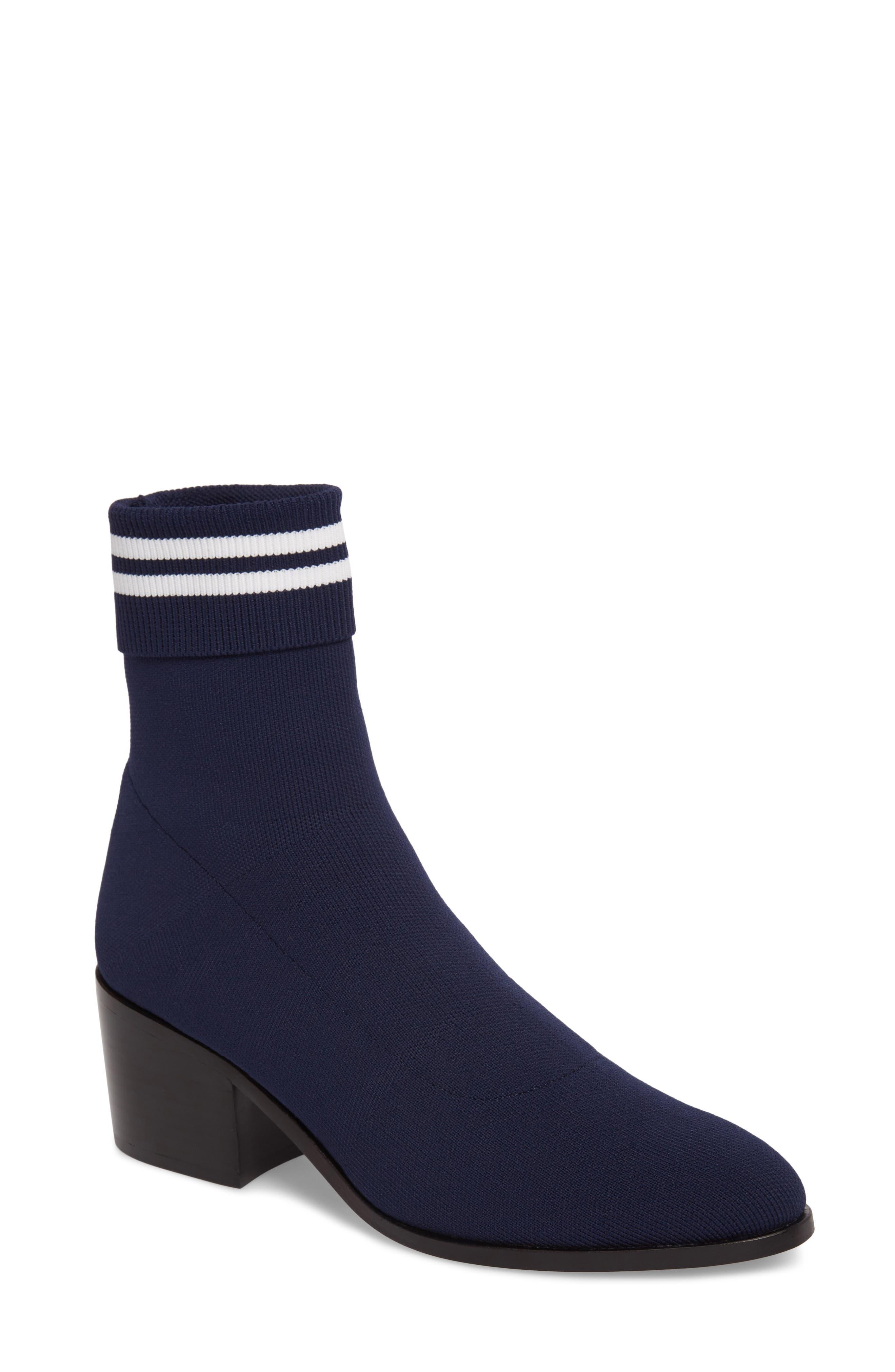 Court Sock Bootie,                         Main,                         color, Collegiate Navy