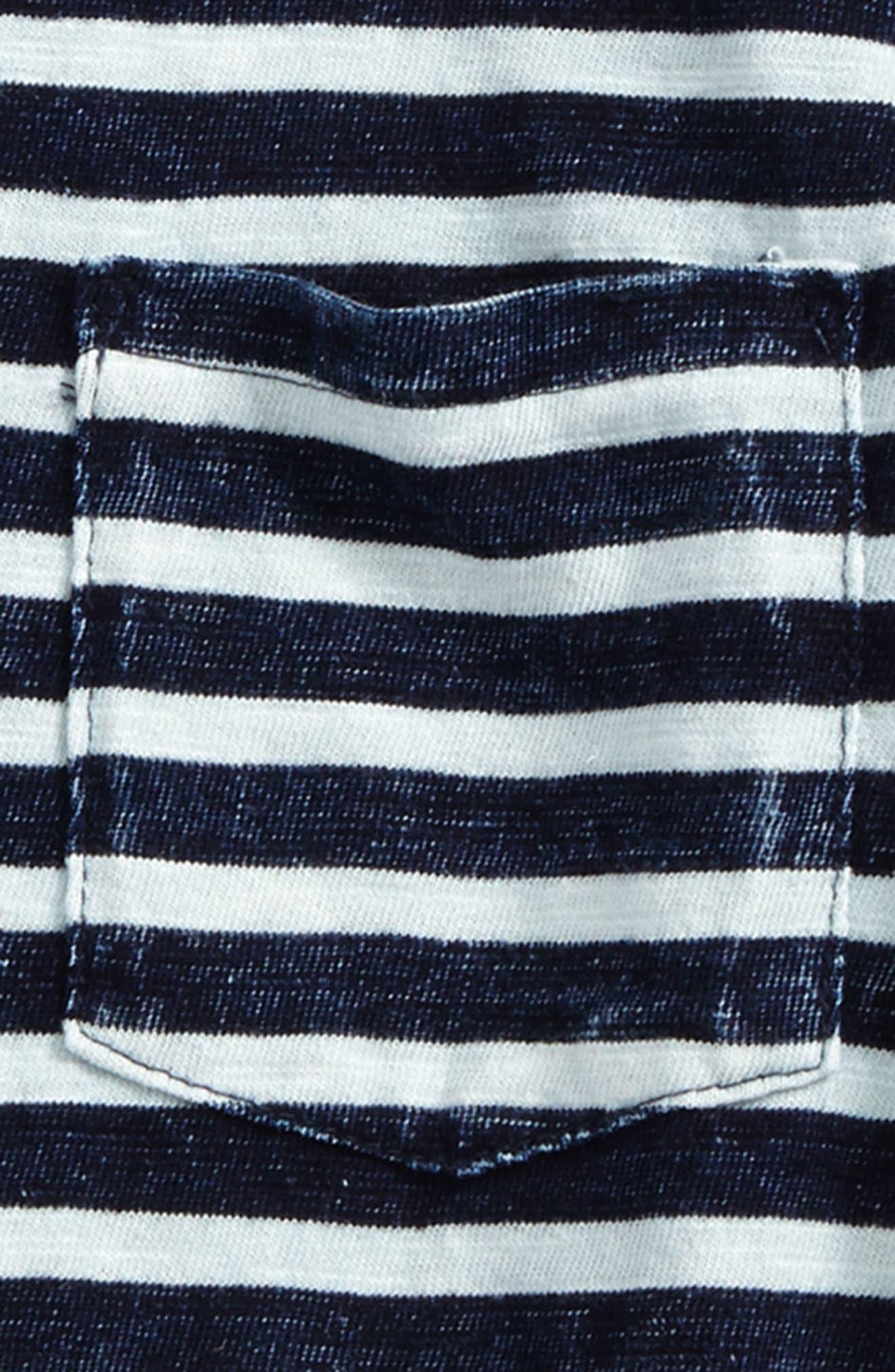 Acid Wash Stripe T-Shirt,                             Alternate thumbnail 2, color,                             Indigo Stripe