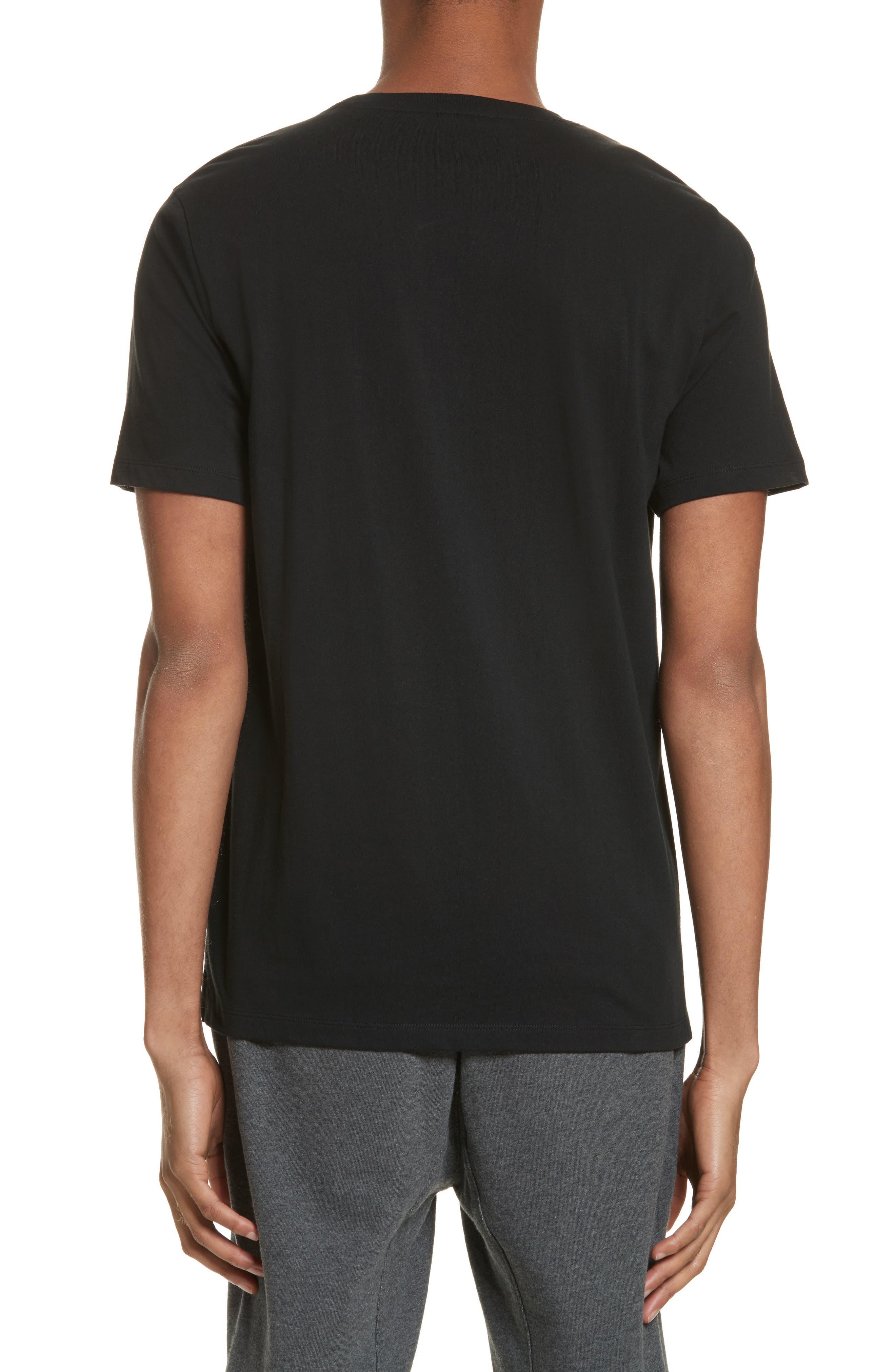 Zip Pocket T-Shirt,                             Alternate thumbnail 2, color,                             Black