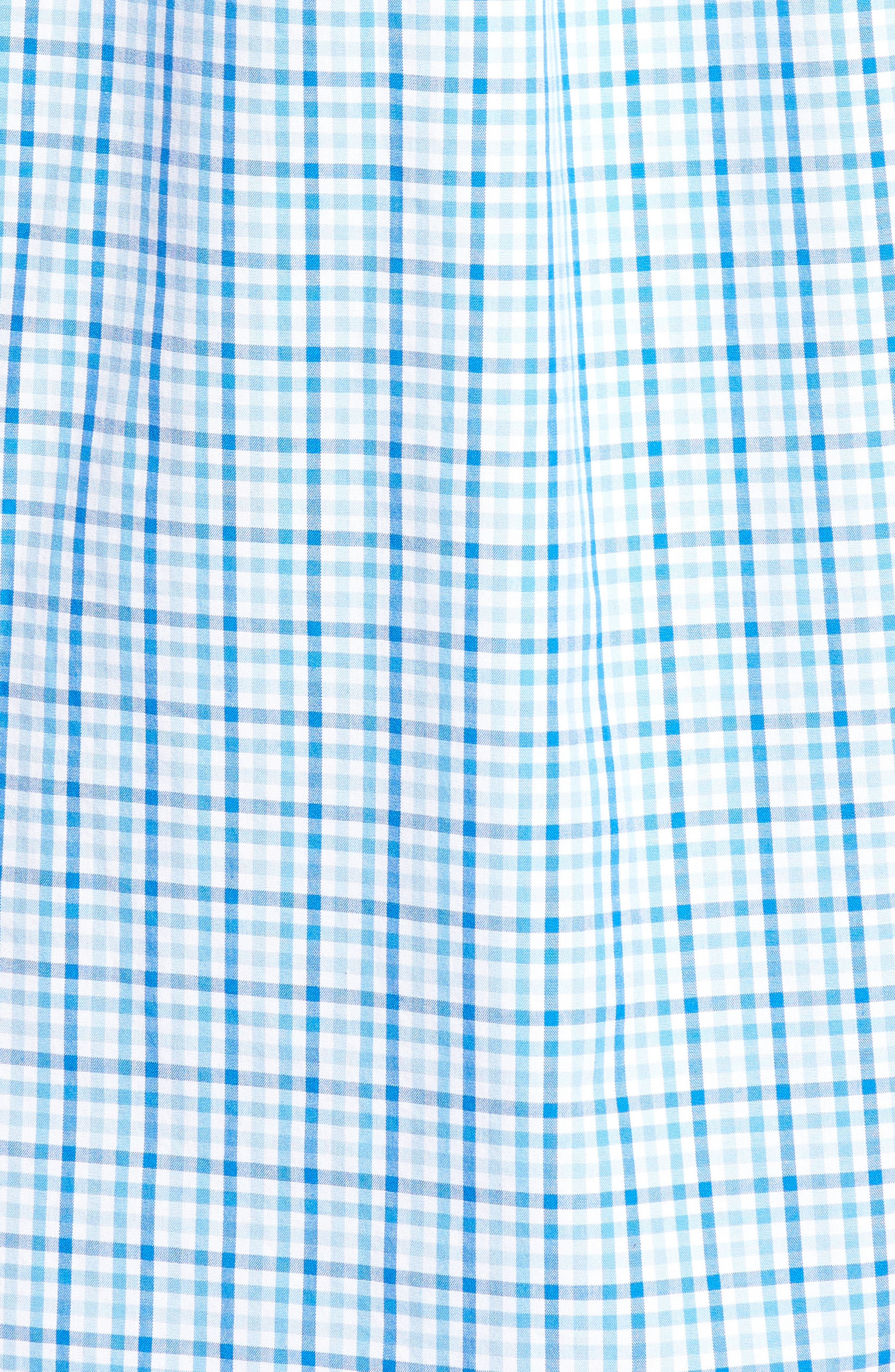 Munroe Tucker Classic Fit Gingham Sport Shirt,                             Alternate thumbnail 4, color,                             Jake Blue