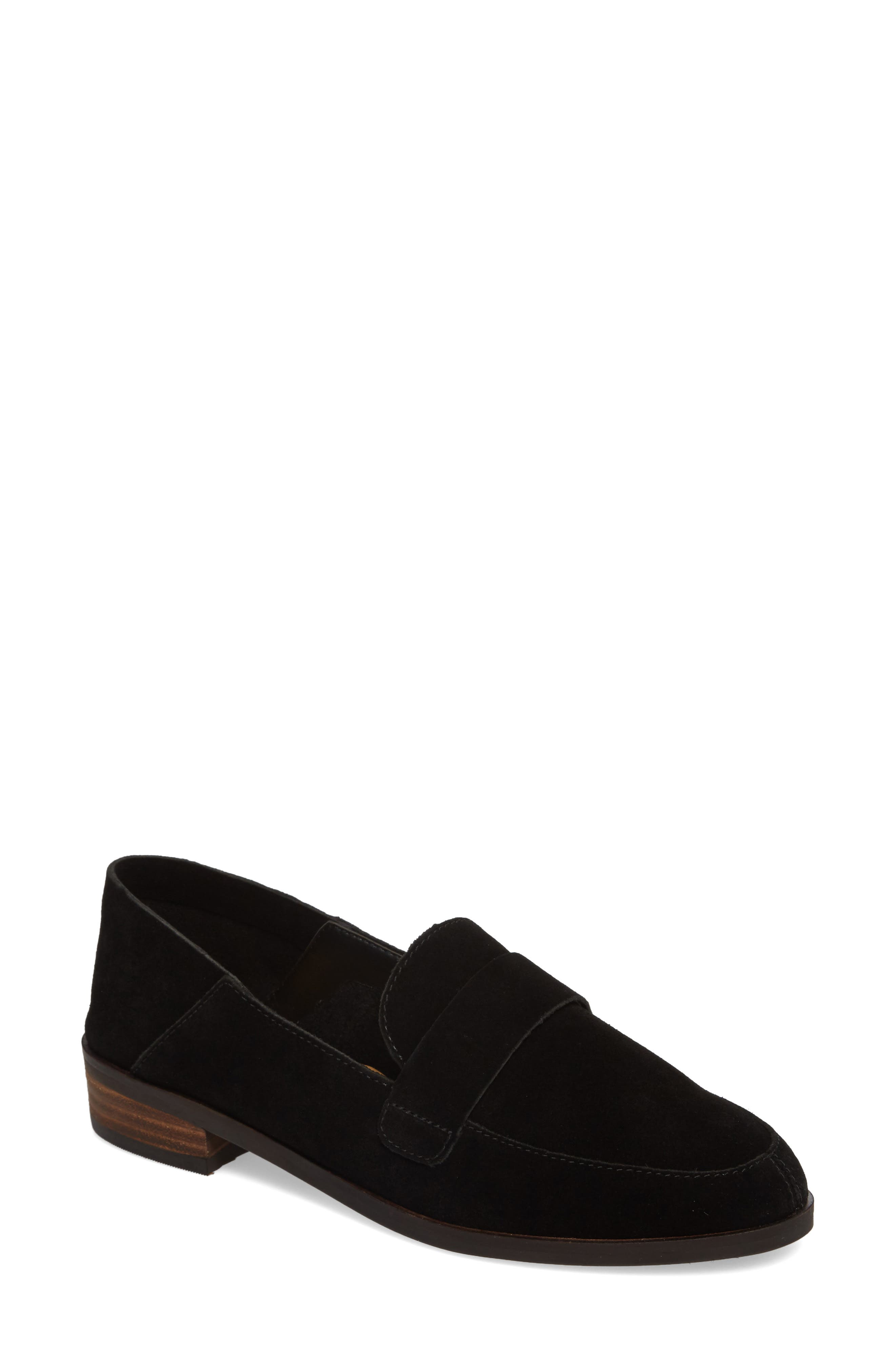 a2c021b9ef5 Lucky Brand Chennie Loafer In Black Suede