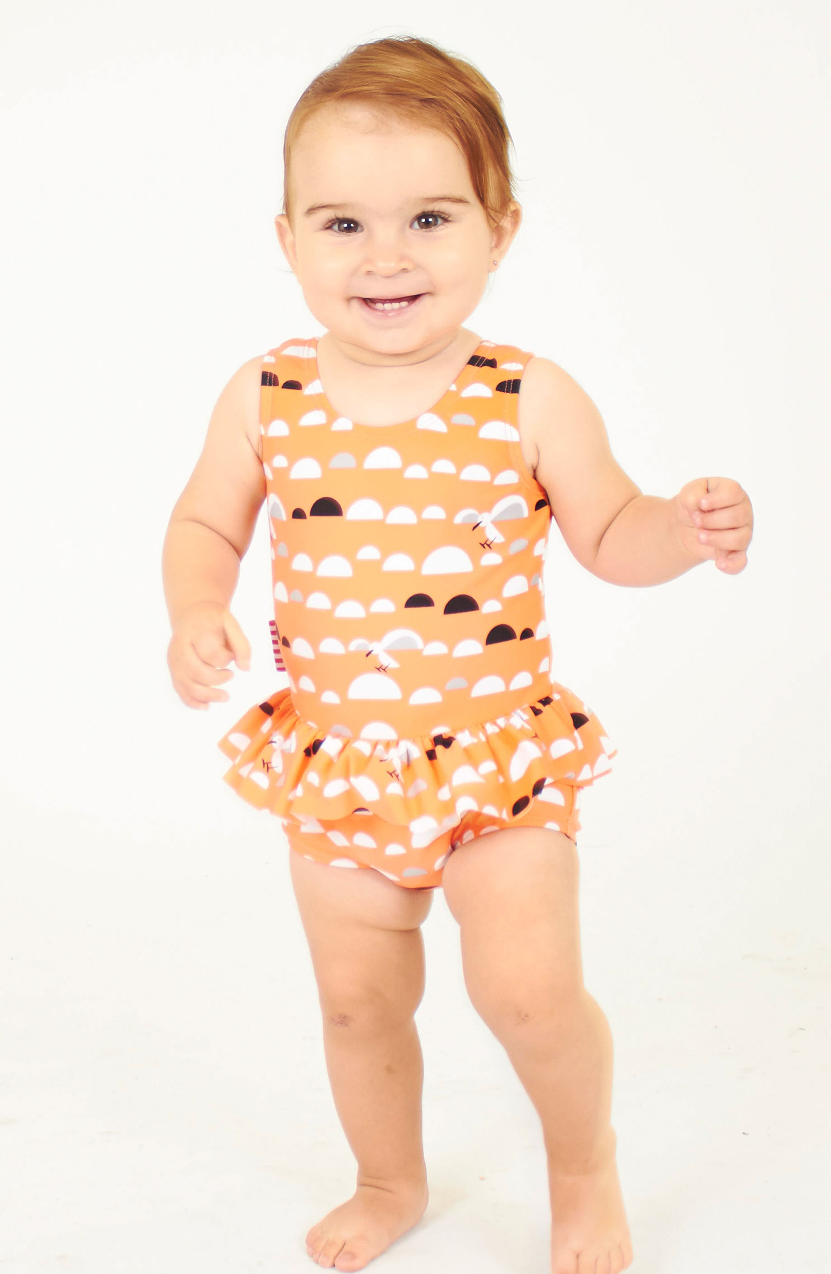 Alternate Image 4  - SOOKIbaby Little Miss C.Gull Skirted One-Piece Swimsuit (Baby Girls)