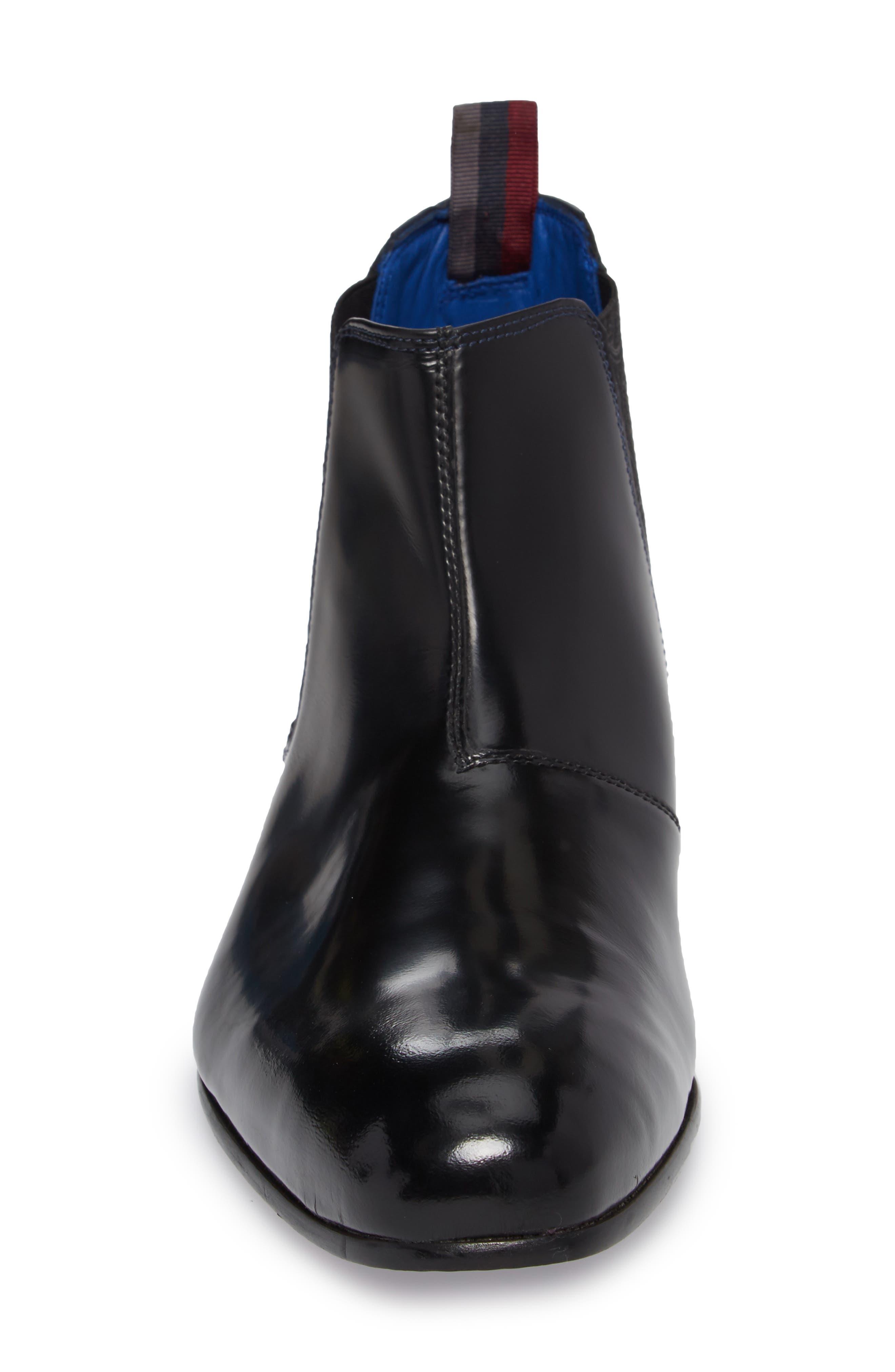 Auldham Chelsea Boot,                             Alternate thumbnail 4, color,                             Black Leather