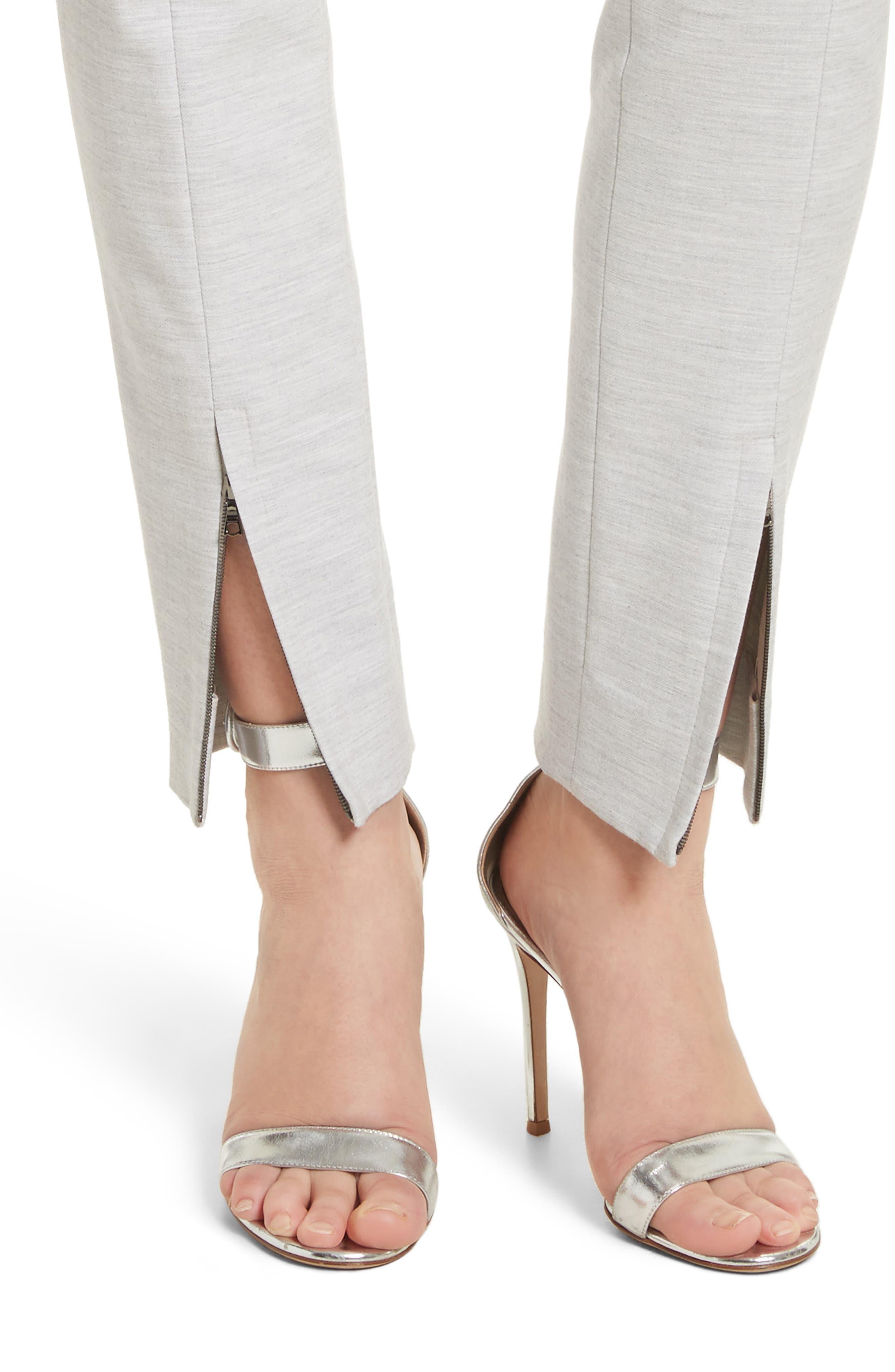 Summer Bella Double Weave Pants,                             Alternate thumbnail 9, color,                             Light Grey Melange