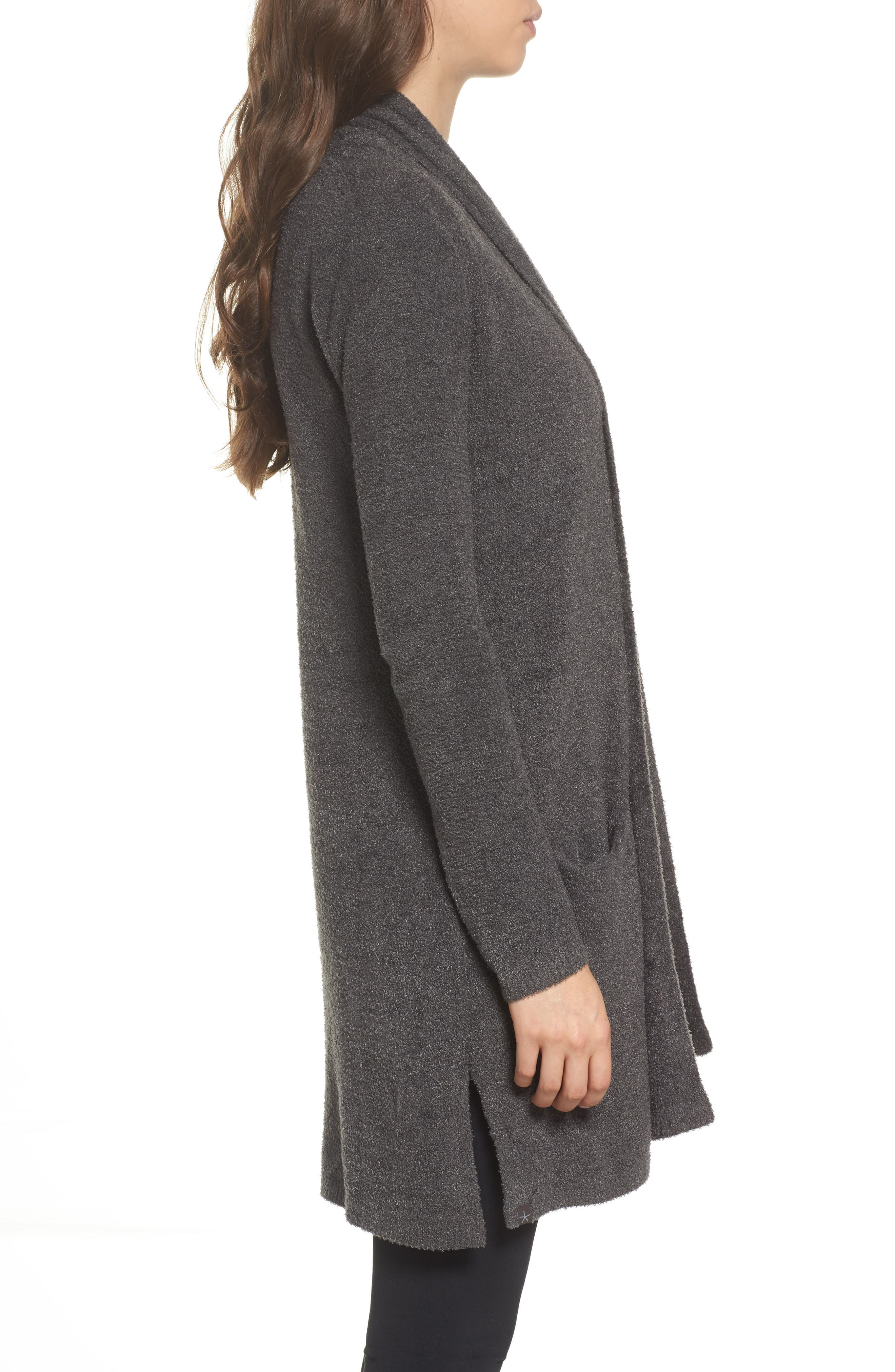 Barefoot Dreams Essential Cardigan,                             Alternate thumbnail 3, color,                             Carbon
