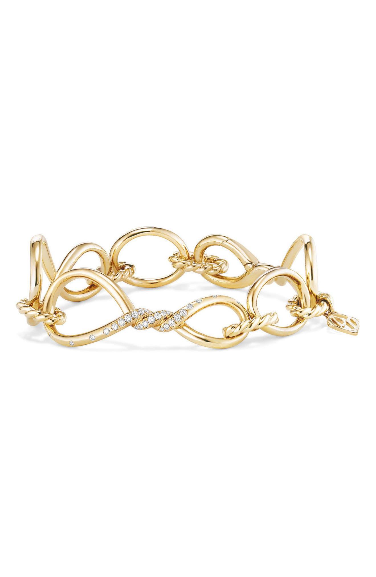 David Yurman Continuance Chain Bracelet with Diamonds