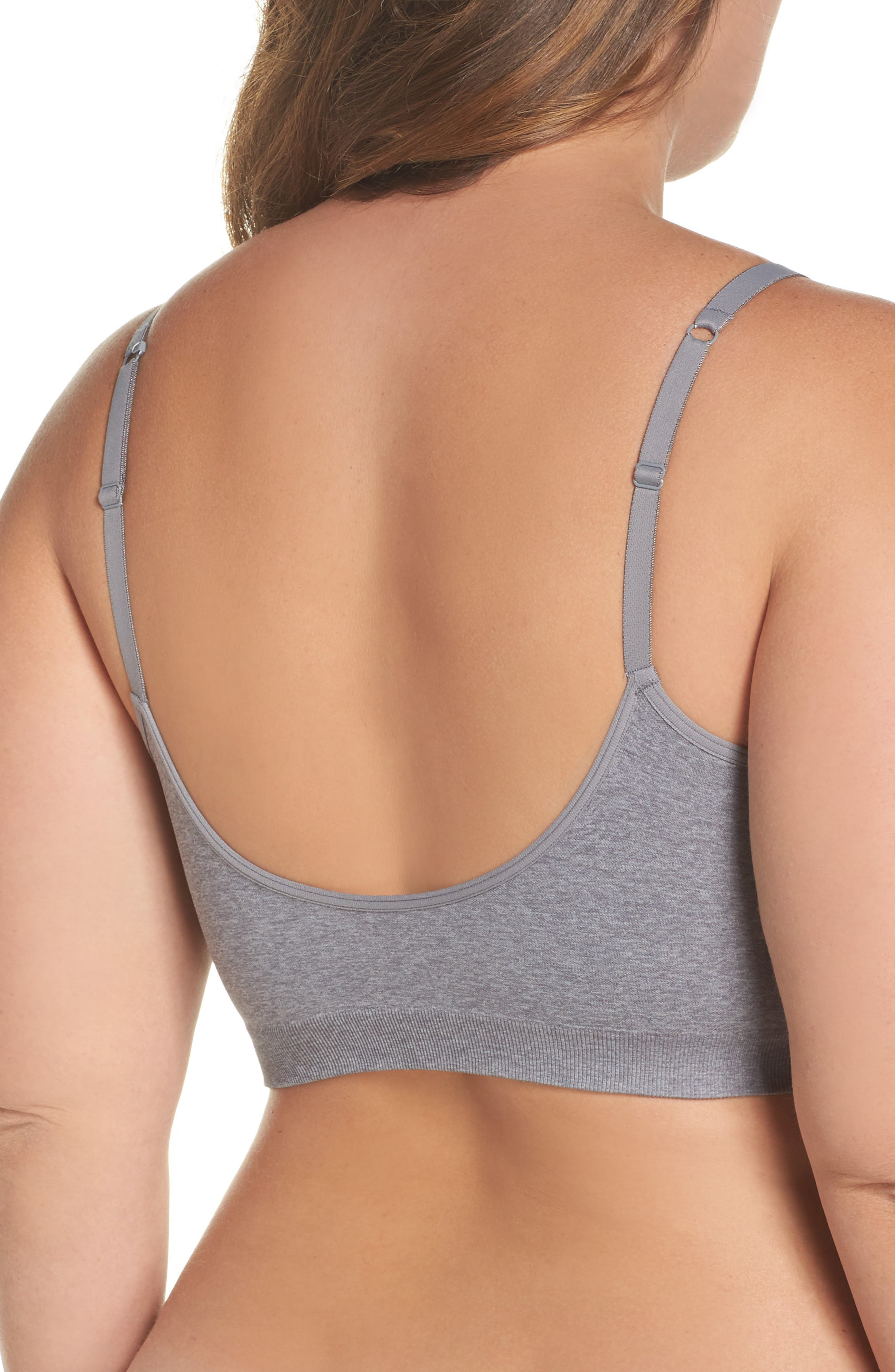 Seamless Day Bra,                             Alternate thumbnail 2, color,                             Grey Excalibur Heather