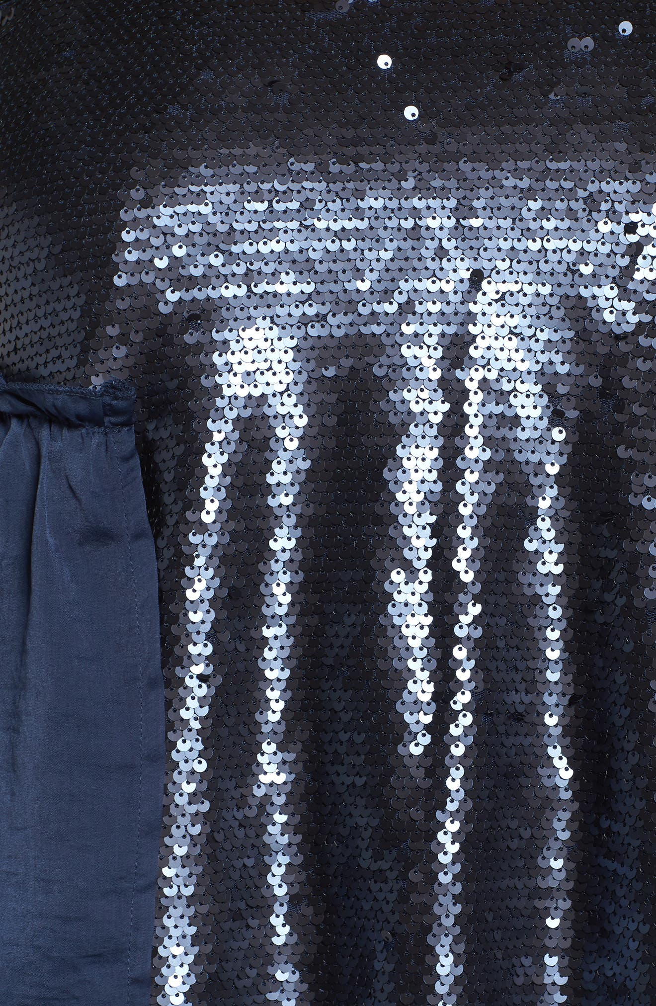 Alternate Image 5  - LOST INK Bell Sleeve Velvet Top with Sequin Cami (Plus Size)