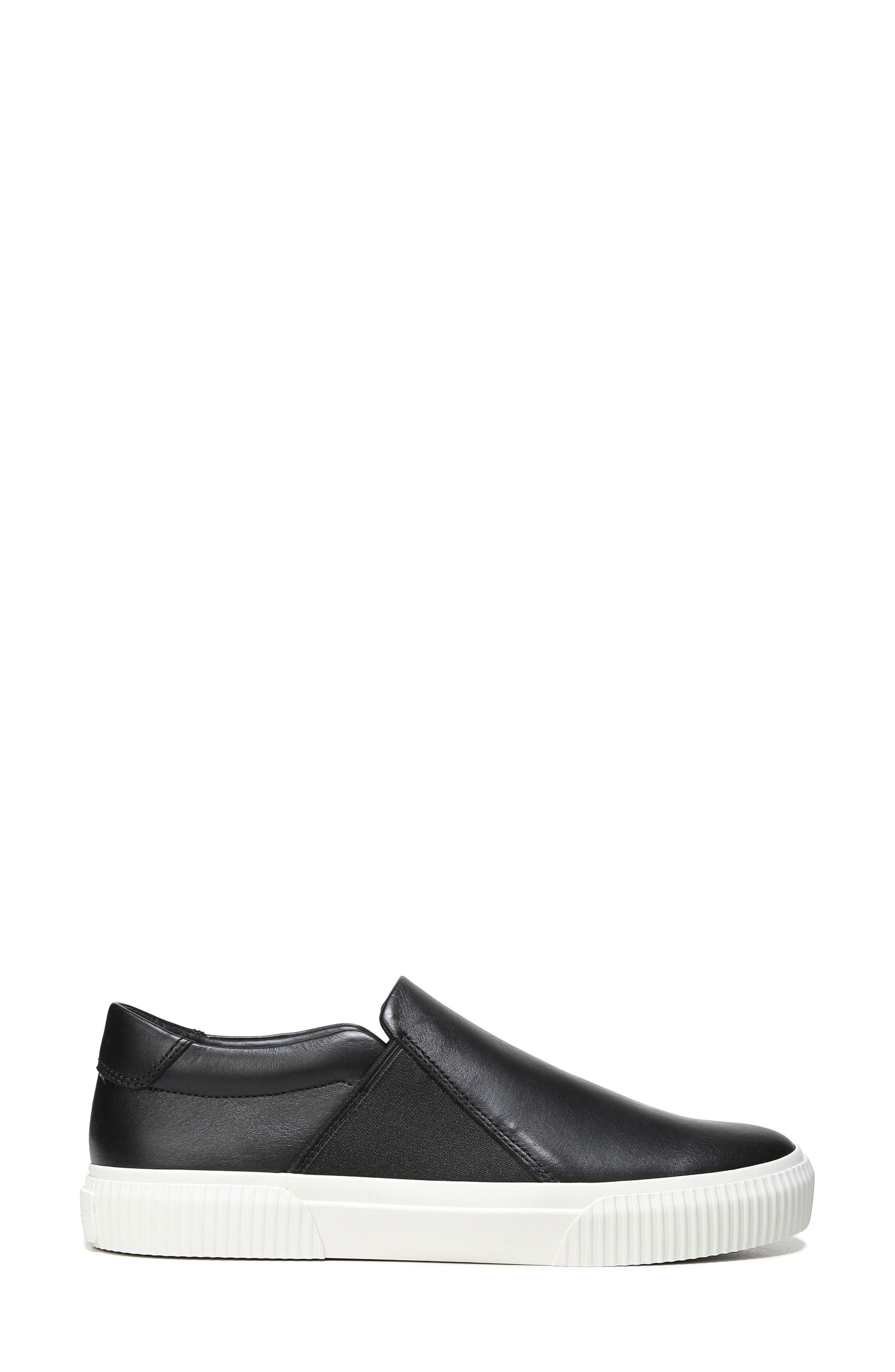 Knox Slip-On Sneaker,                             Alternate thumbnail 3, color,                             Black Leather