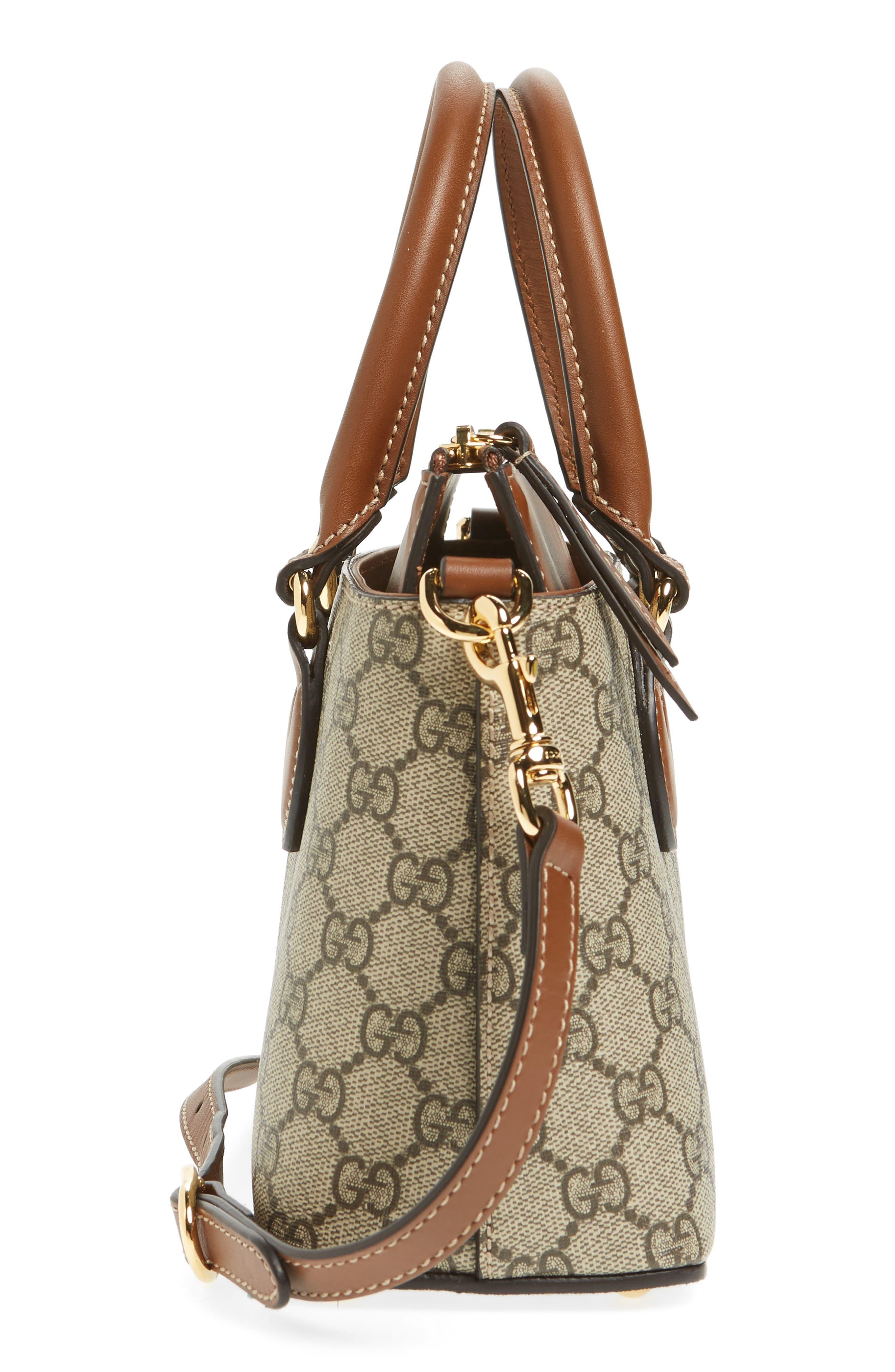 Alternate Image 5  - Gucci GG Mini Linea A Canvas & Leather Crossbody Tote
