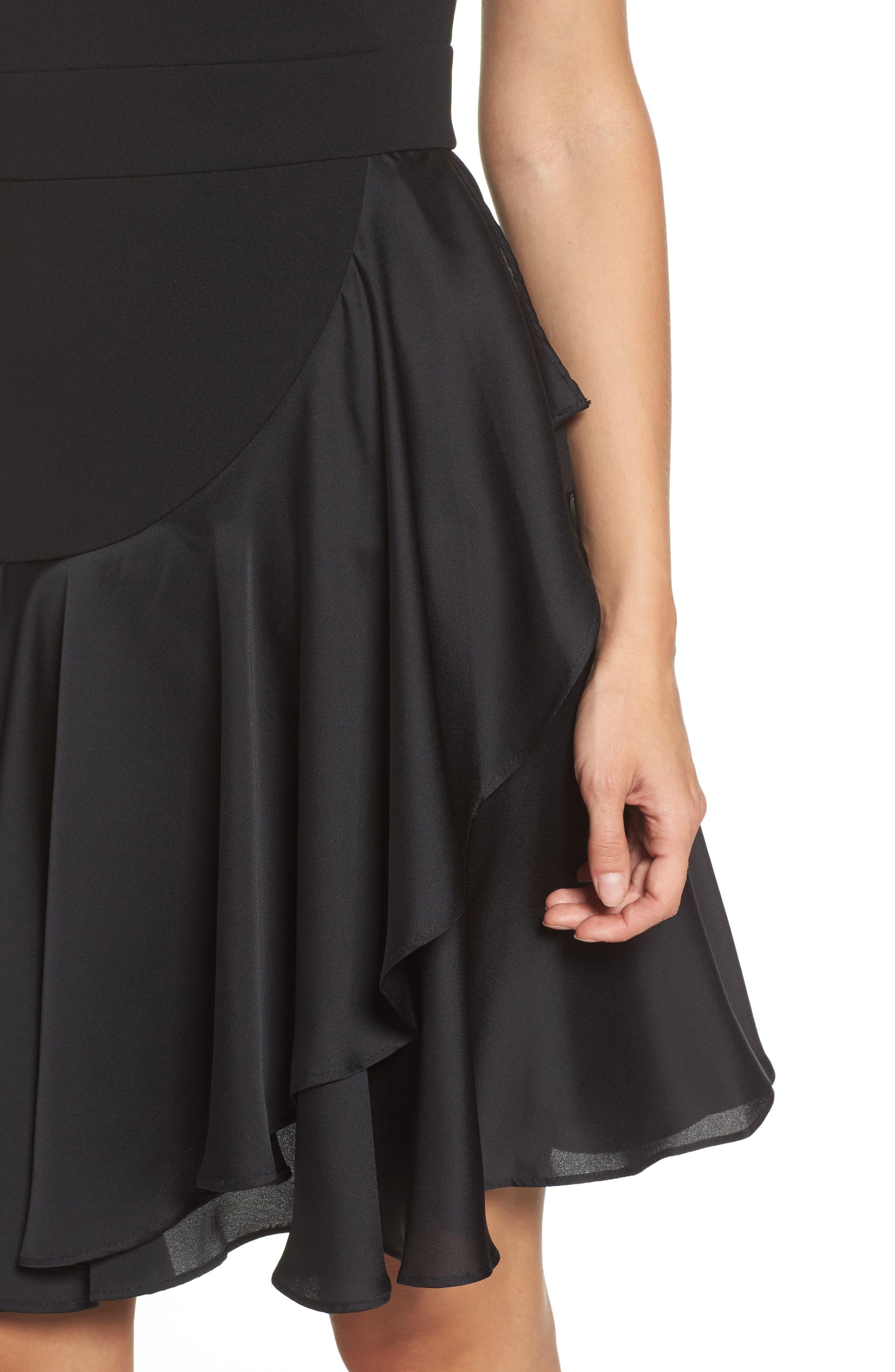 Alternate Image 4  - Taylor Dresses Ruffle Hem Fit & Flare Dress