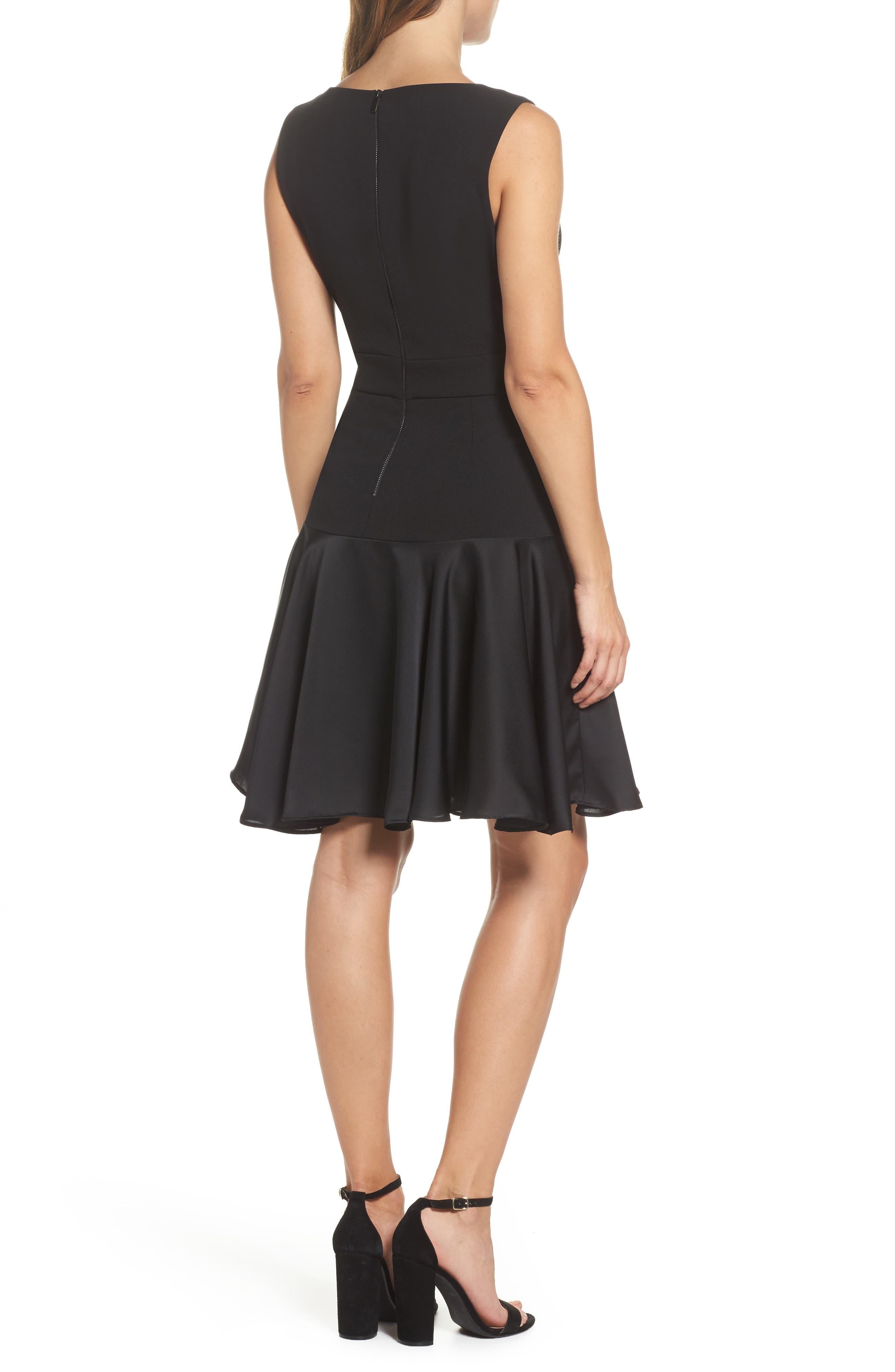 Alternate Image 2  - Taylor Dresses Ruffle Hem Fit & Flare Dress