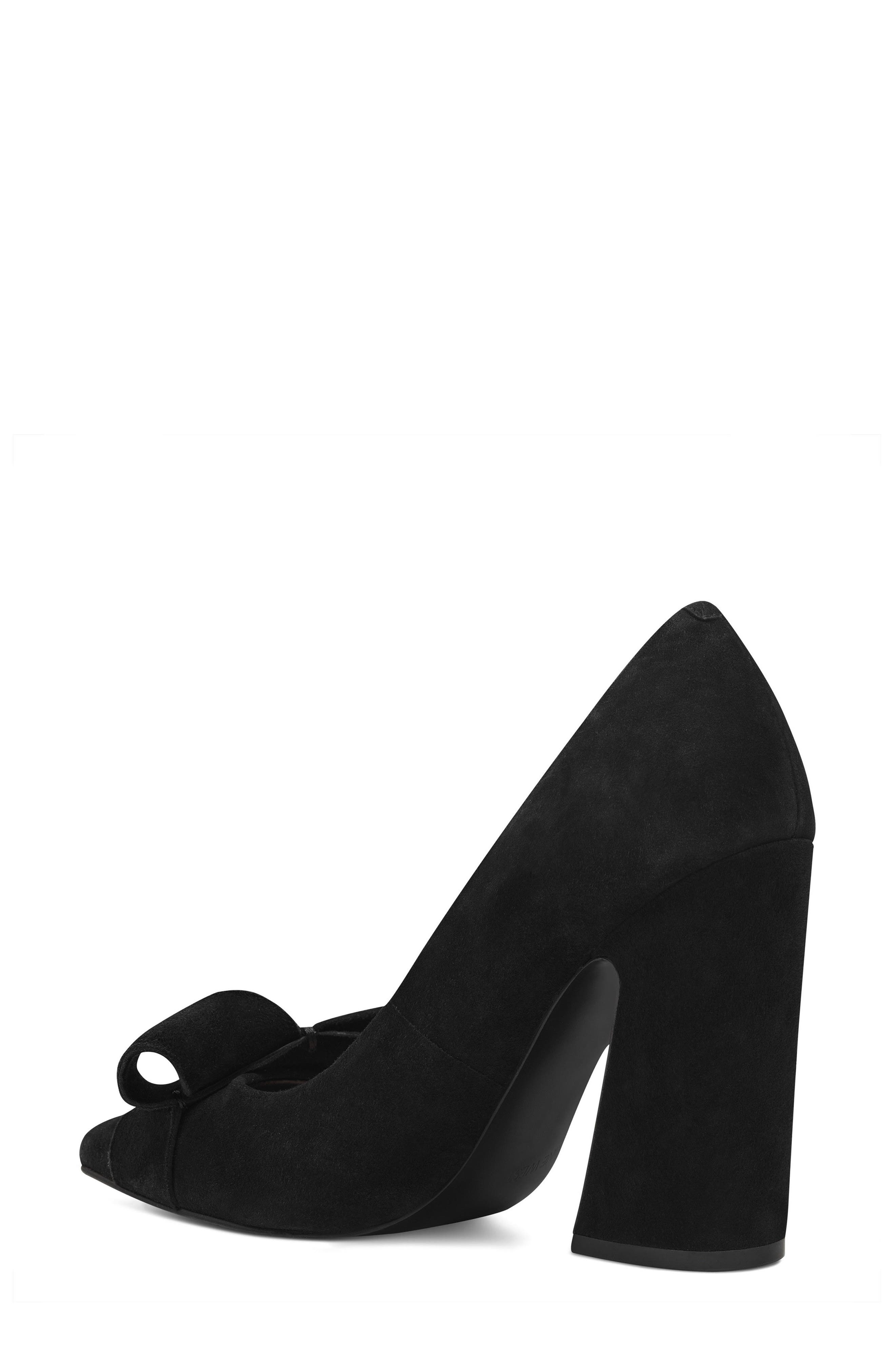 Haddriana Pointy Toe Pump,                             Alternate thumbnail 2, color,                             Black Suede