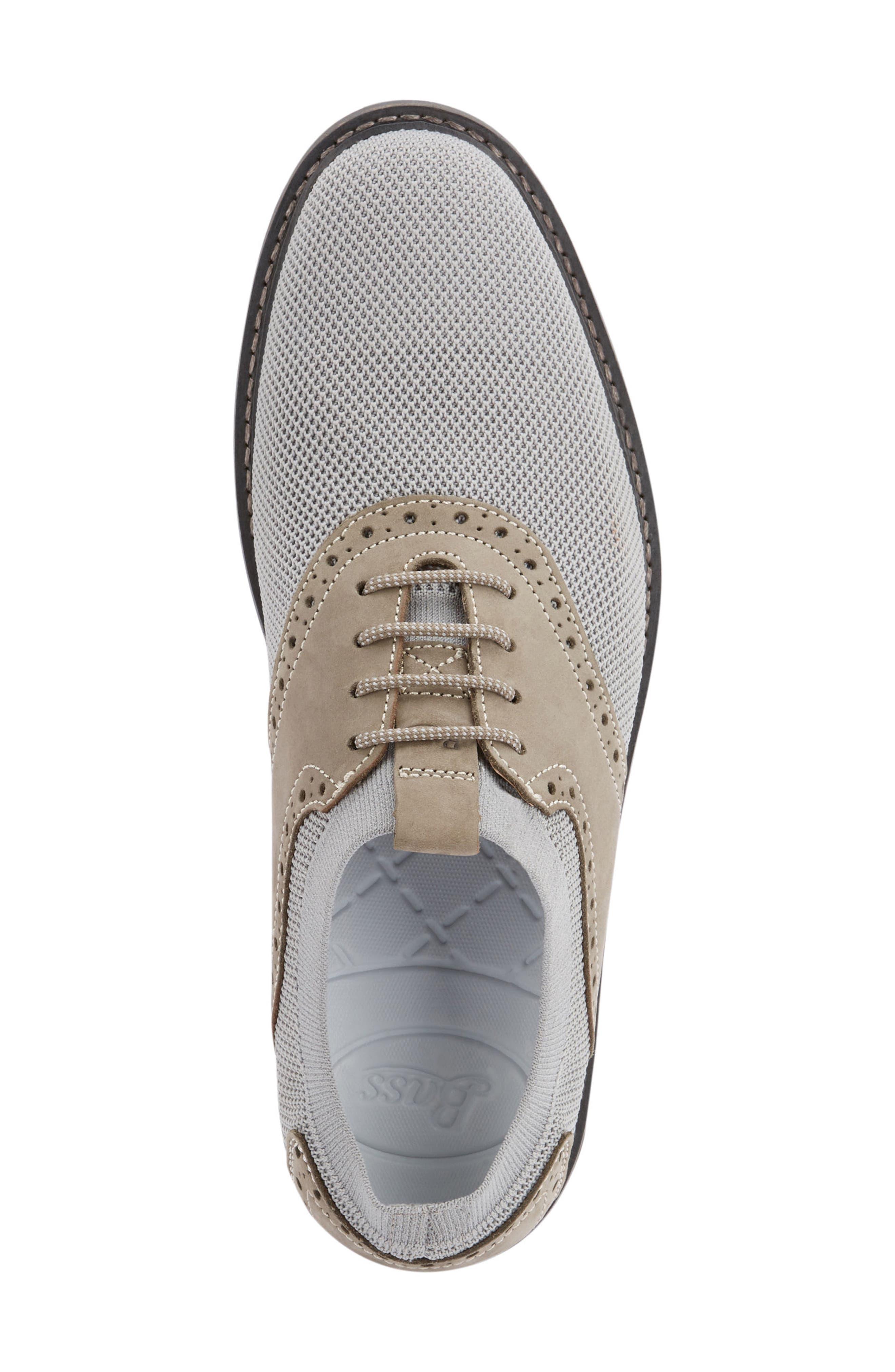 Buck 2.0 Saddle Shoe,                             Alternate thumbnail 5, color,                             Light Grey Knit/ Nubuck