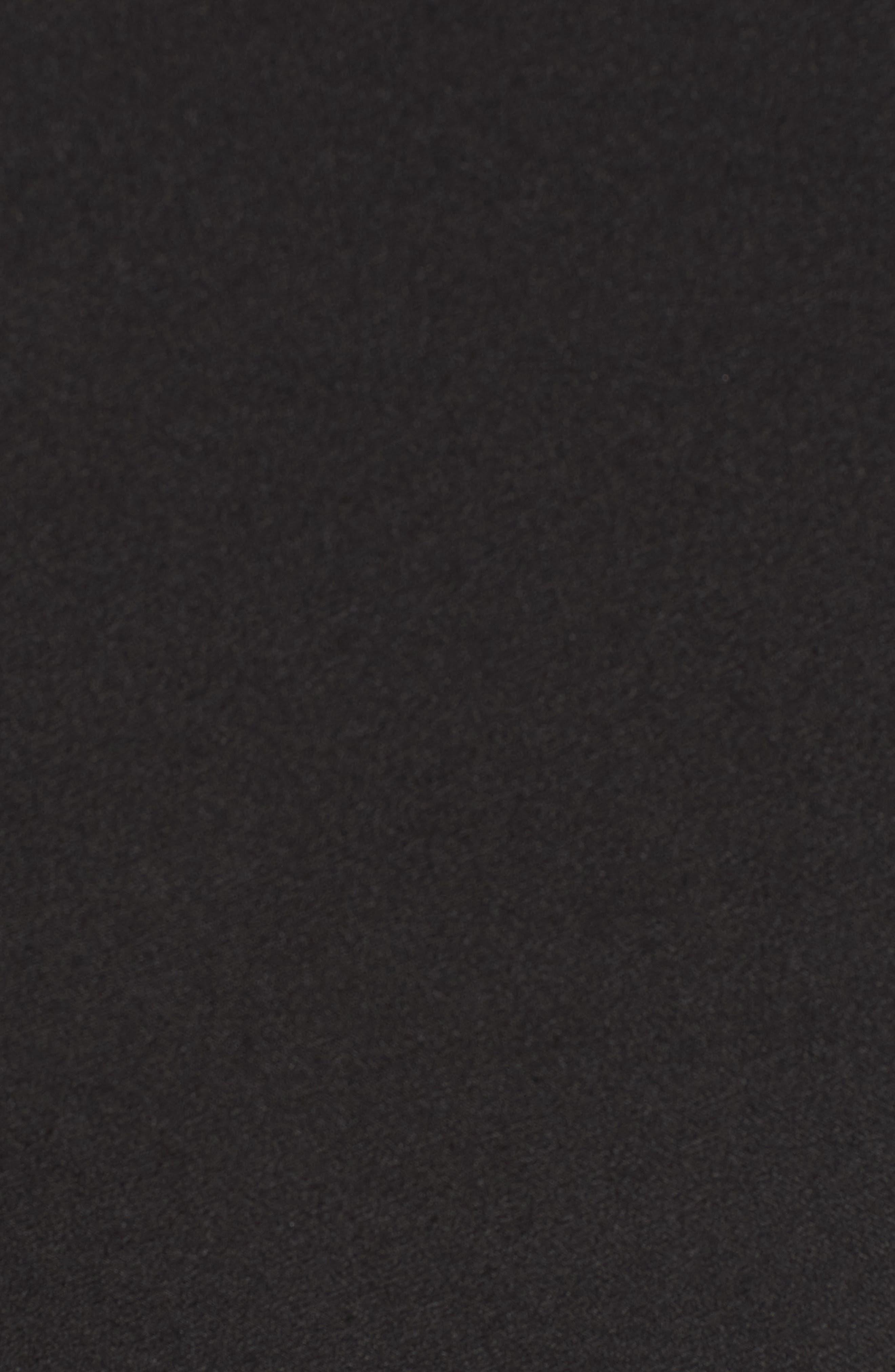 Jeanne Split Sleeve Minidress,                             Alternate thumbnail 5, color,                             Black