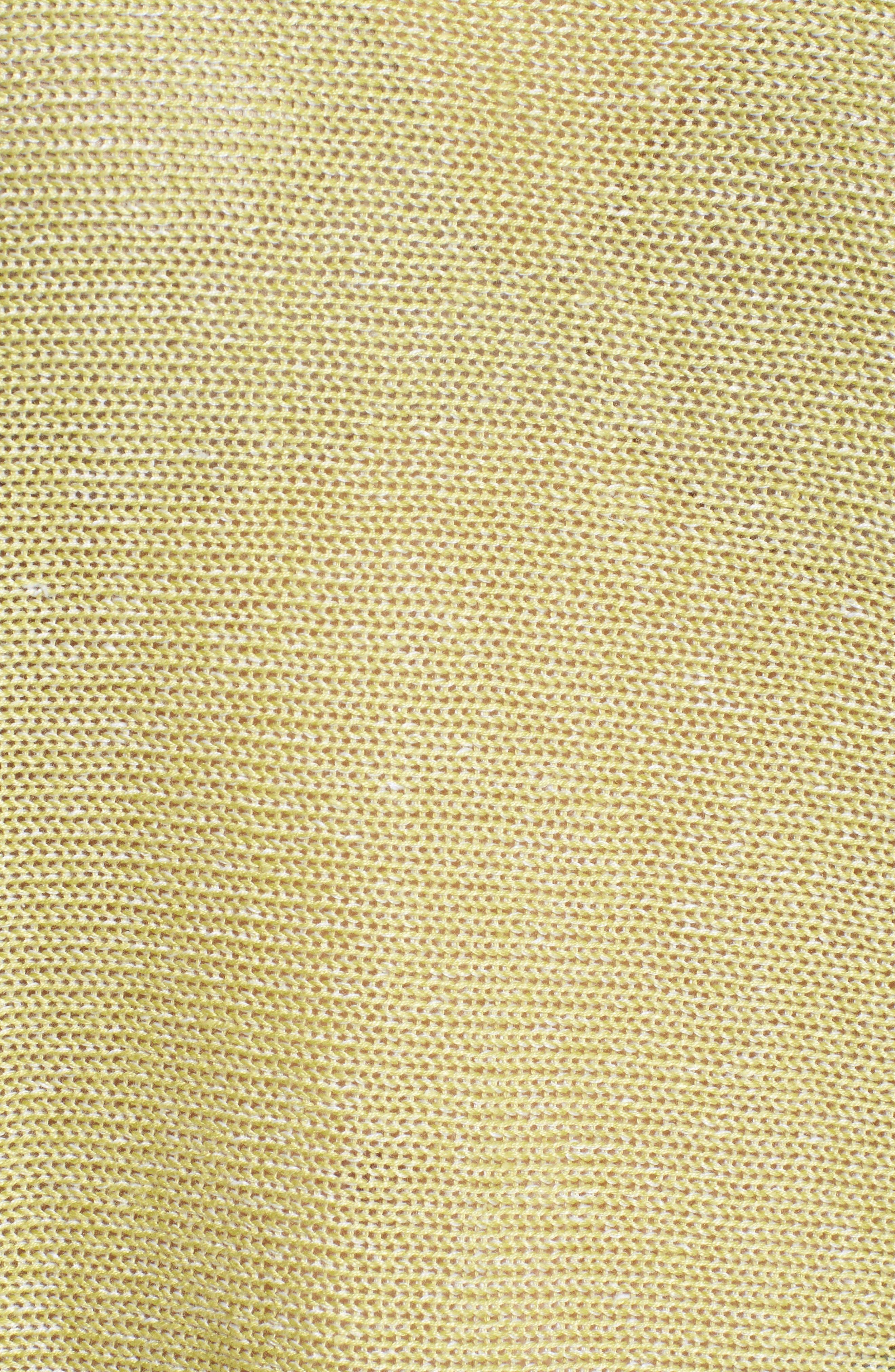 Boxy Organic Linen Sweater,                             Alternate thumbnail 5, color,                             Verbena