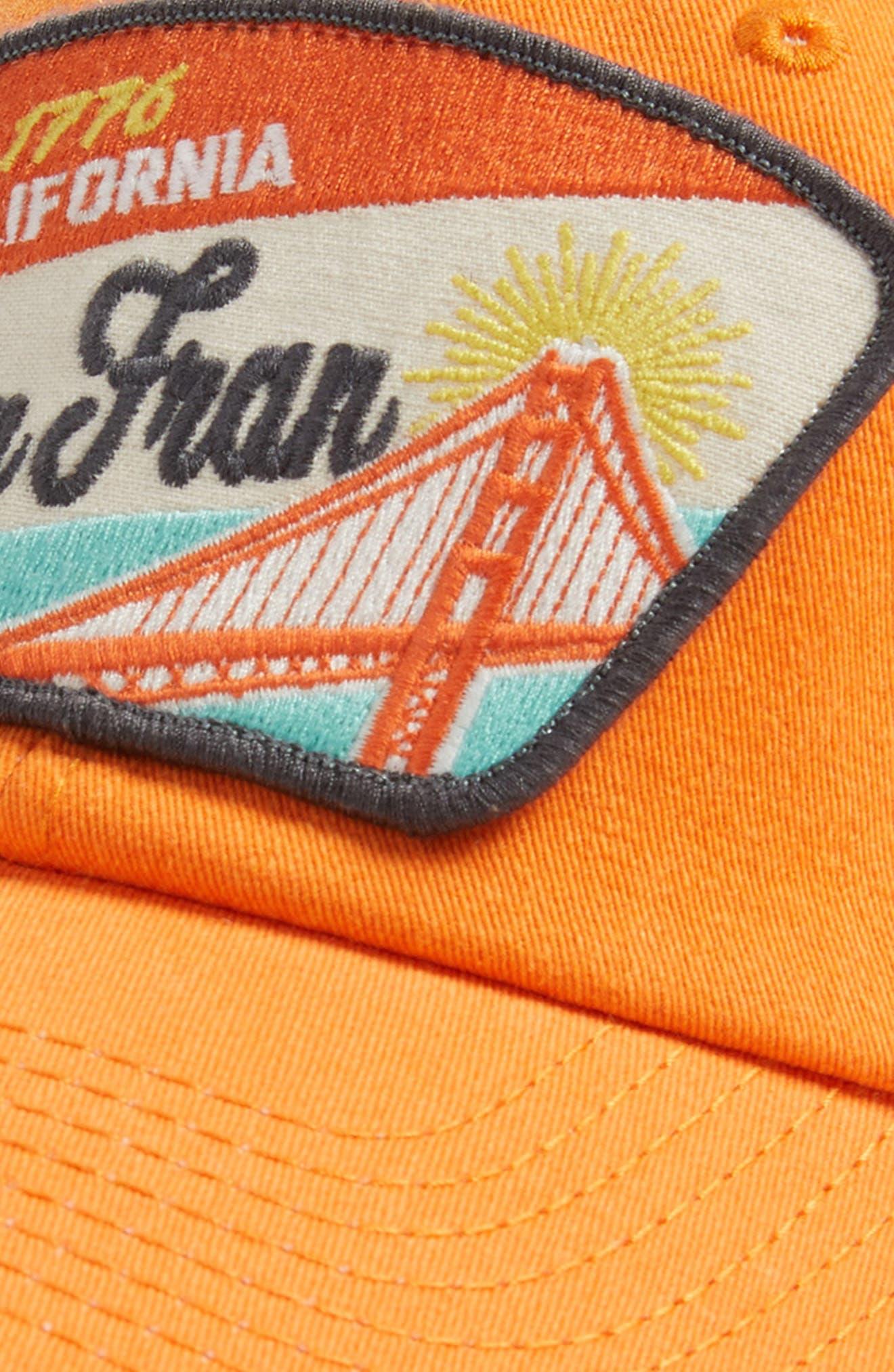 Ravenswood - Destination San Francisco Hat,                             Alternate thumbnail 3, color,                             Ivory/ Orange