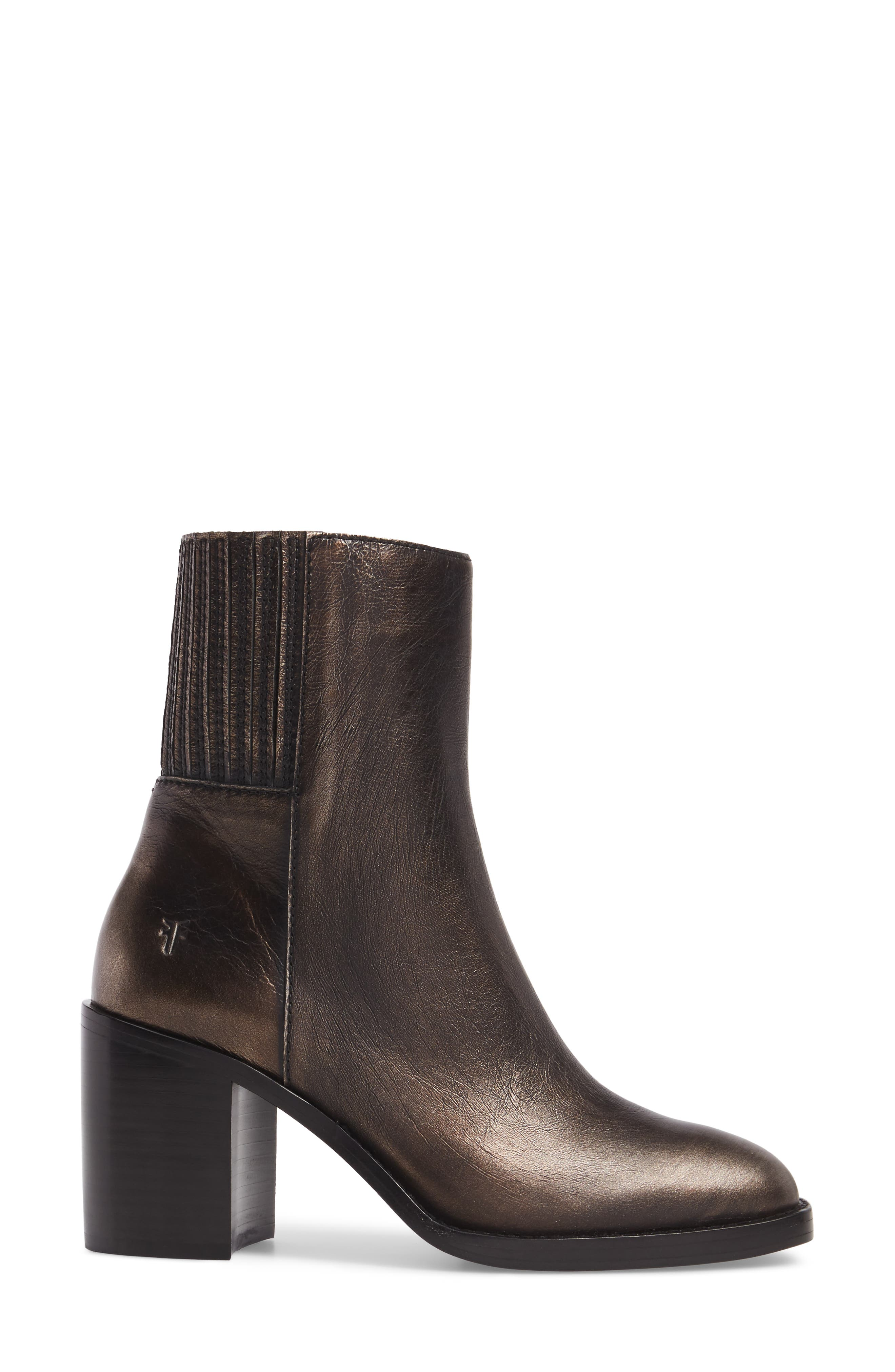 Pia Boot,                             Alternate thumbnail 3, color,                             Bronze Leather