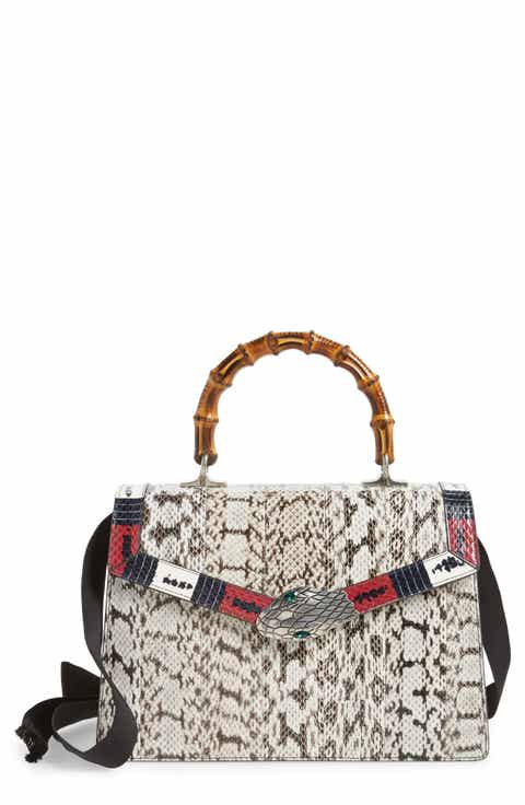 Gucci Medium Minerva Genuine Snakeskin Top Handle Bag Today Price - Free catering invoice template gucci outlet store online