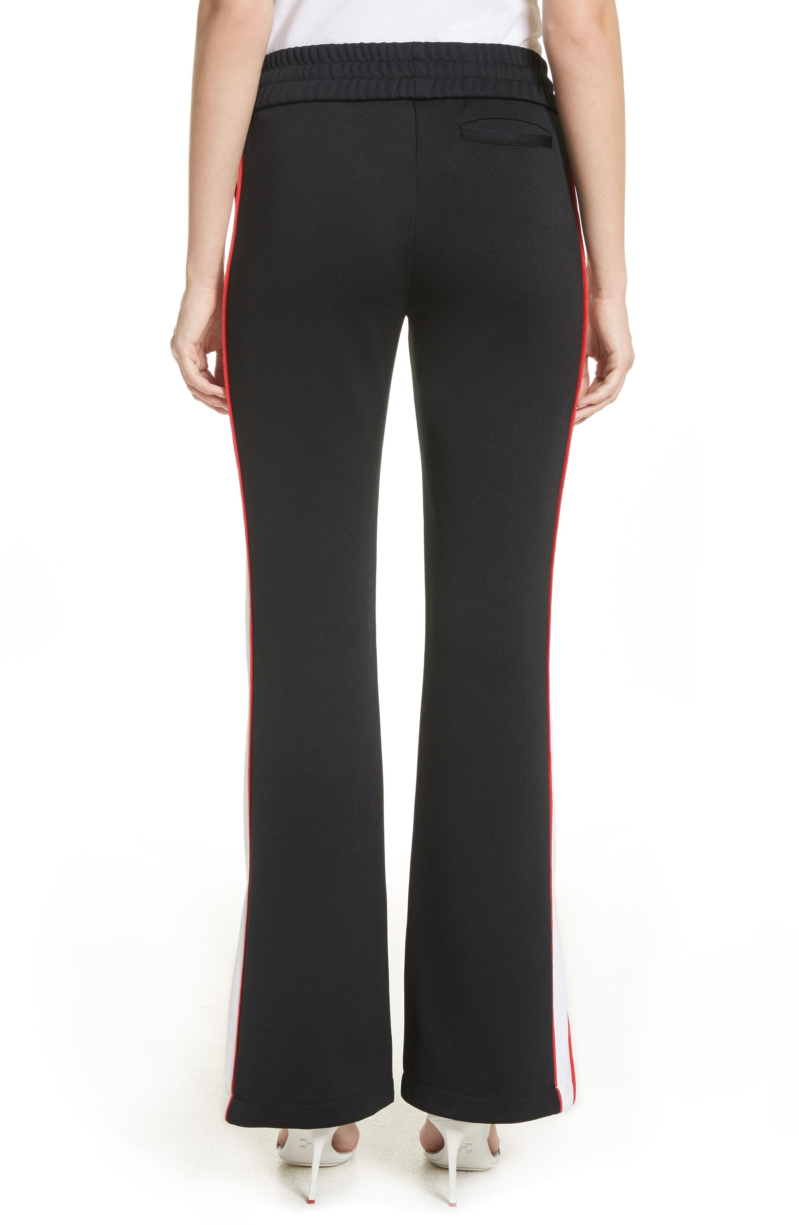 Flare Leg Track Pants,                             Alternate thumbnail 2, color,                             Black/ No Color
