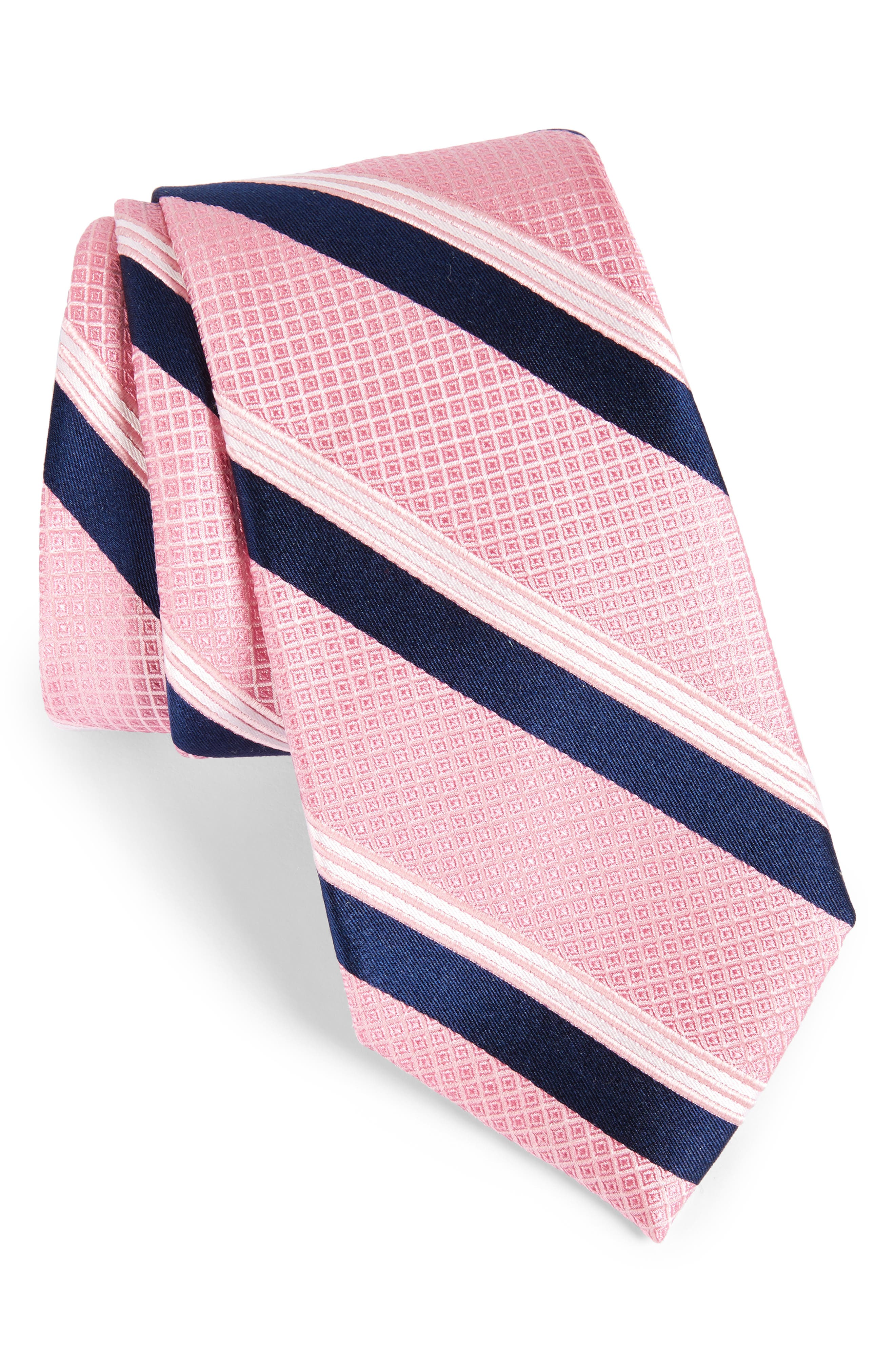 Main Image - Nordstrom Men's Shop Stripe Silk Tie