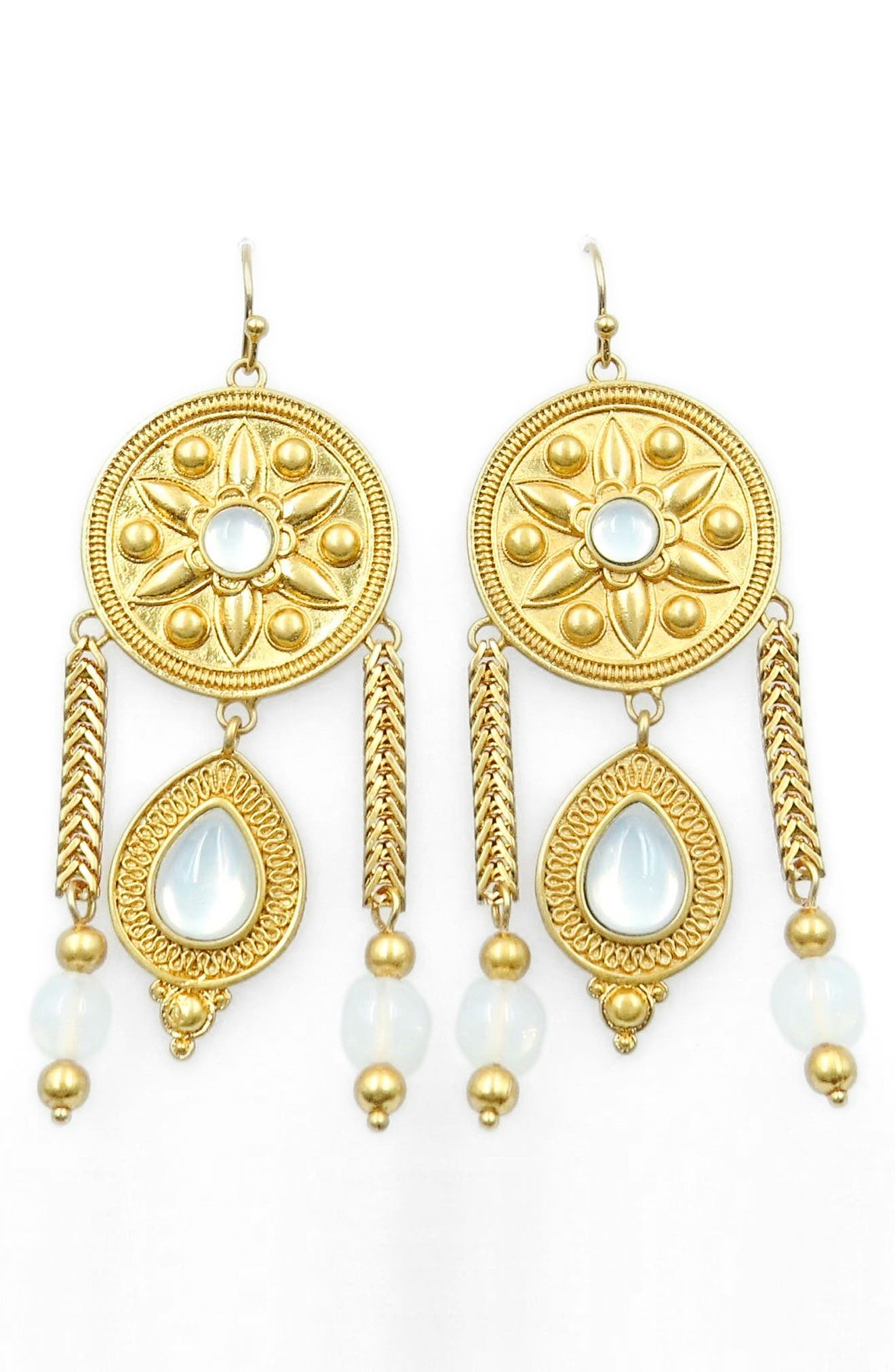 Drop Earrings,                             Main thumbnail 1, color,                             Gold