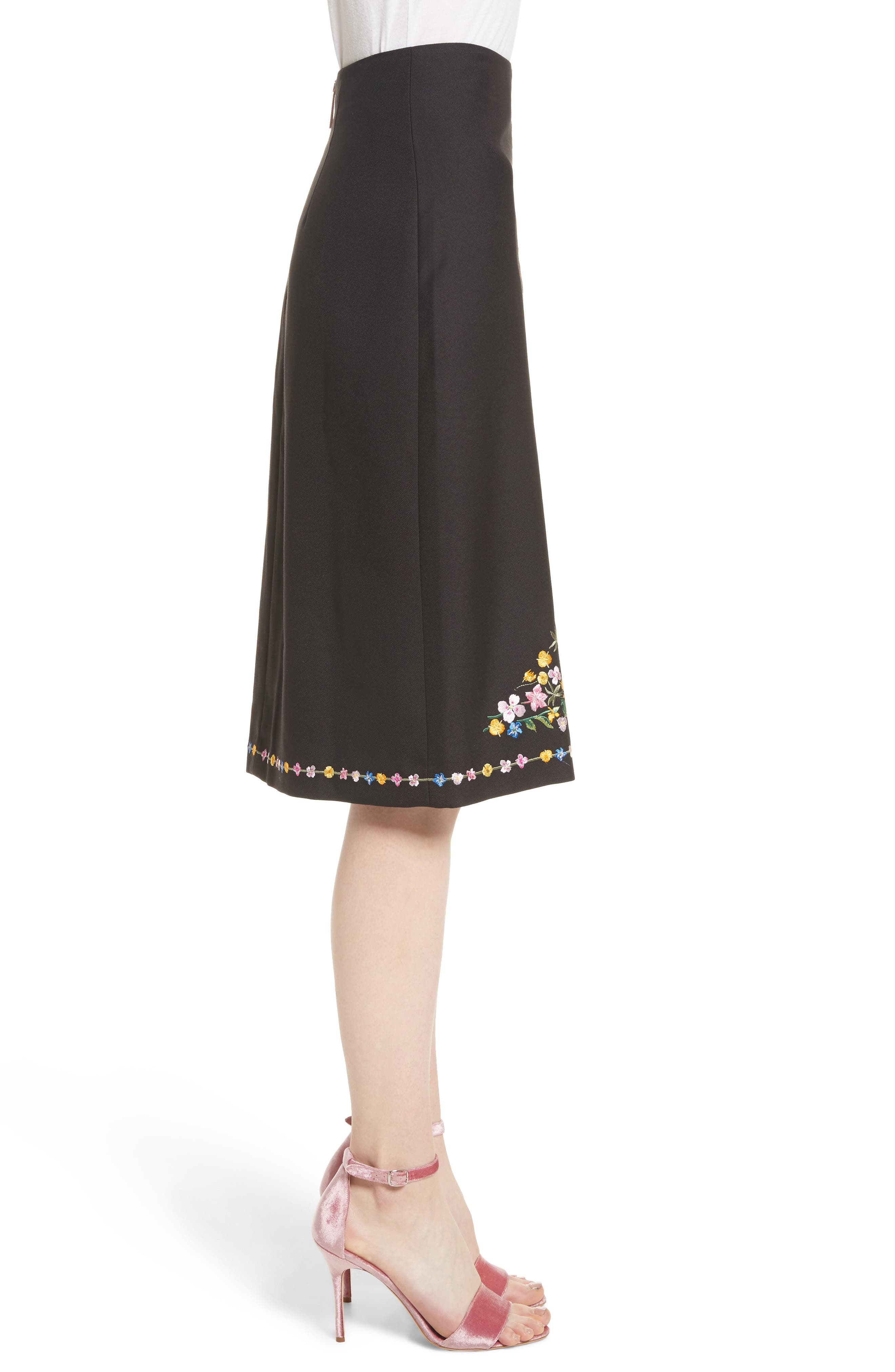 Alternate Image 3  - Ted Baker London Hampton Print A-Line Skirt