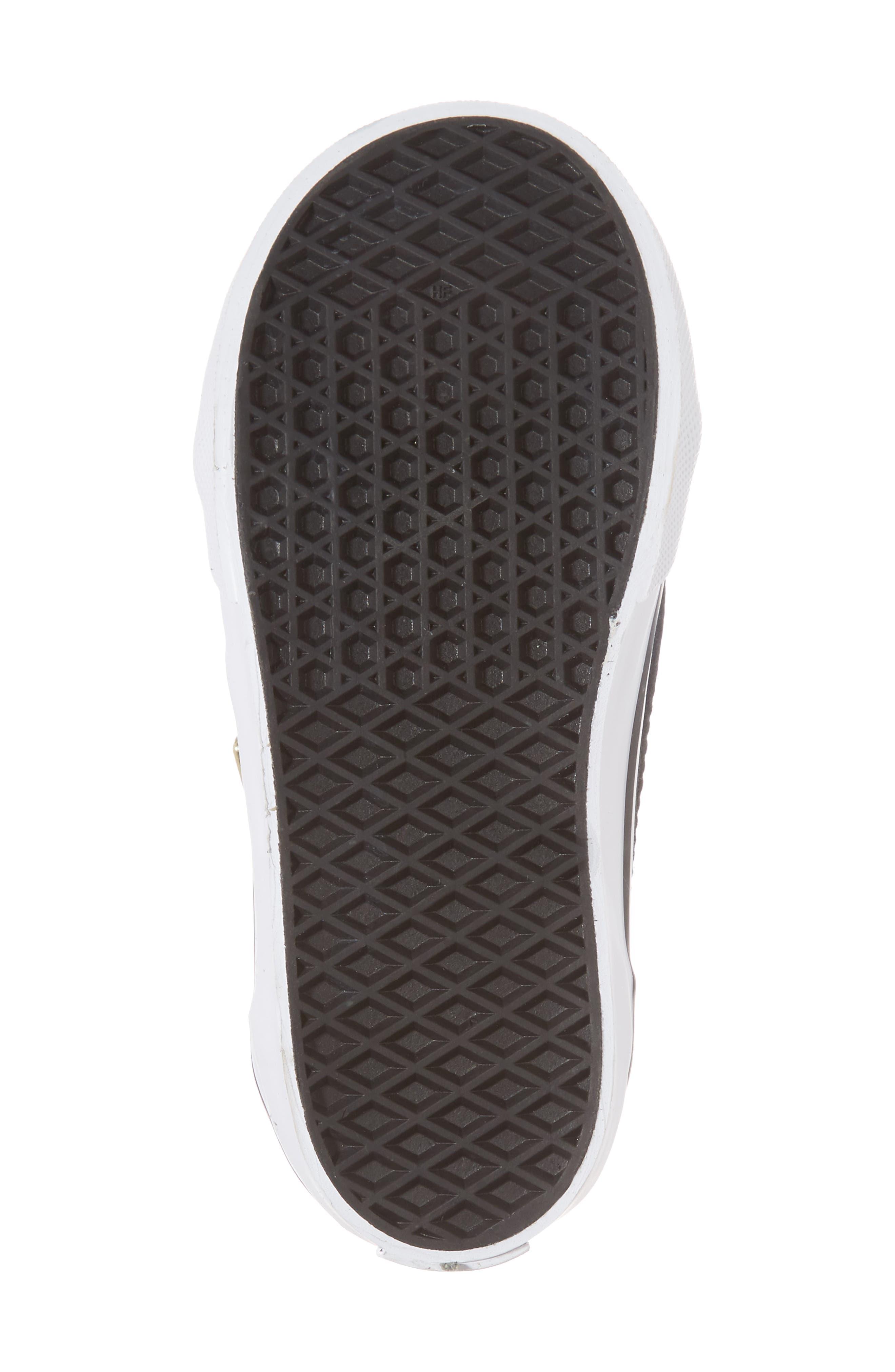 Old Skool Zip Sneaker,                             Alternate thumbnail 6, color,                             Black/ Gold