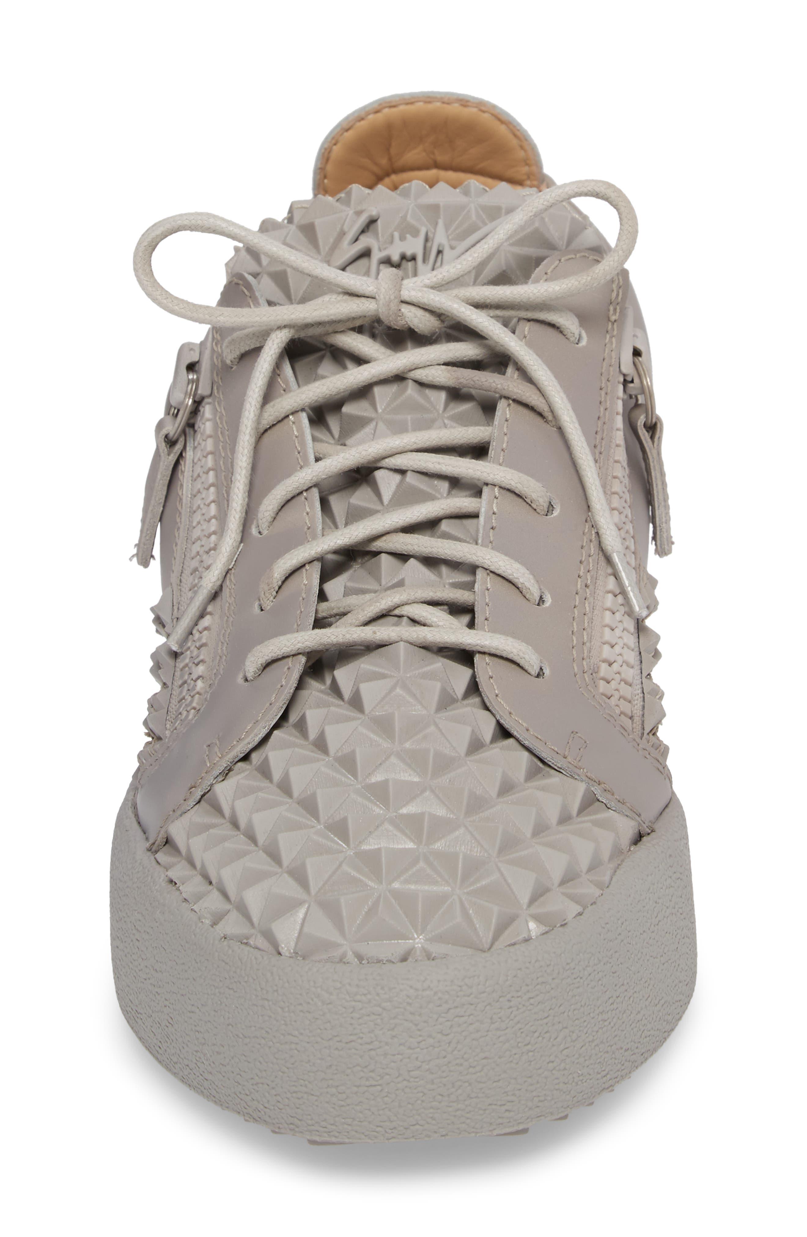 Low Top Sneaker,                             Alternate thumbnail 4, color,                             Grey