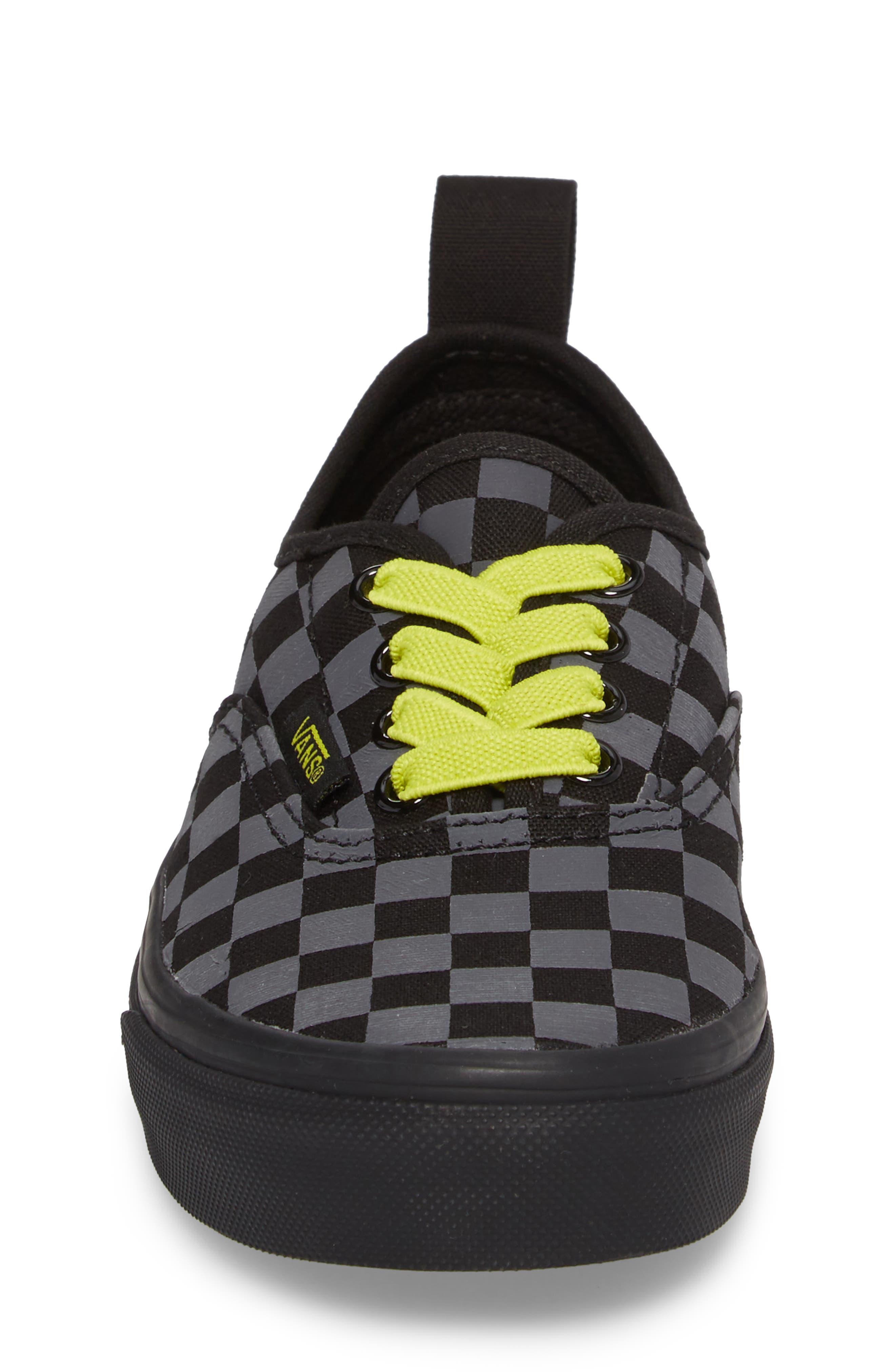 Reflective Checkerboard Authentic Sneaker,                             Alternate thumbnail 4, color,                             Asphalt/ Reflective
