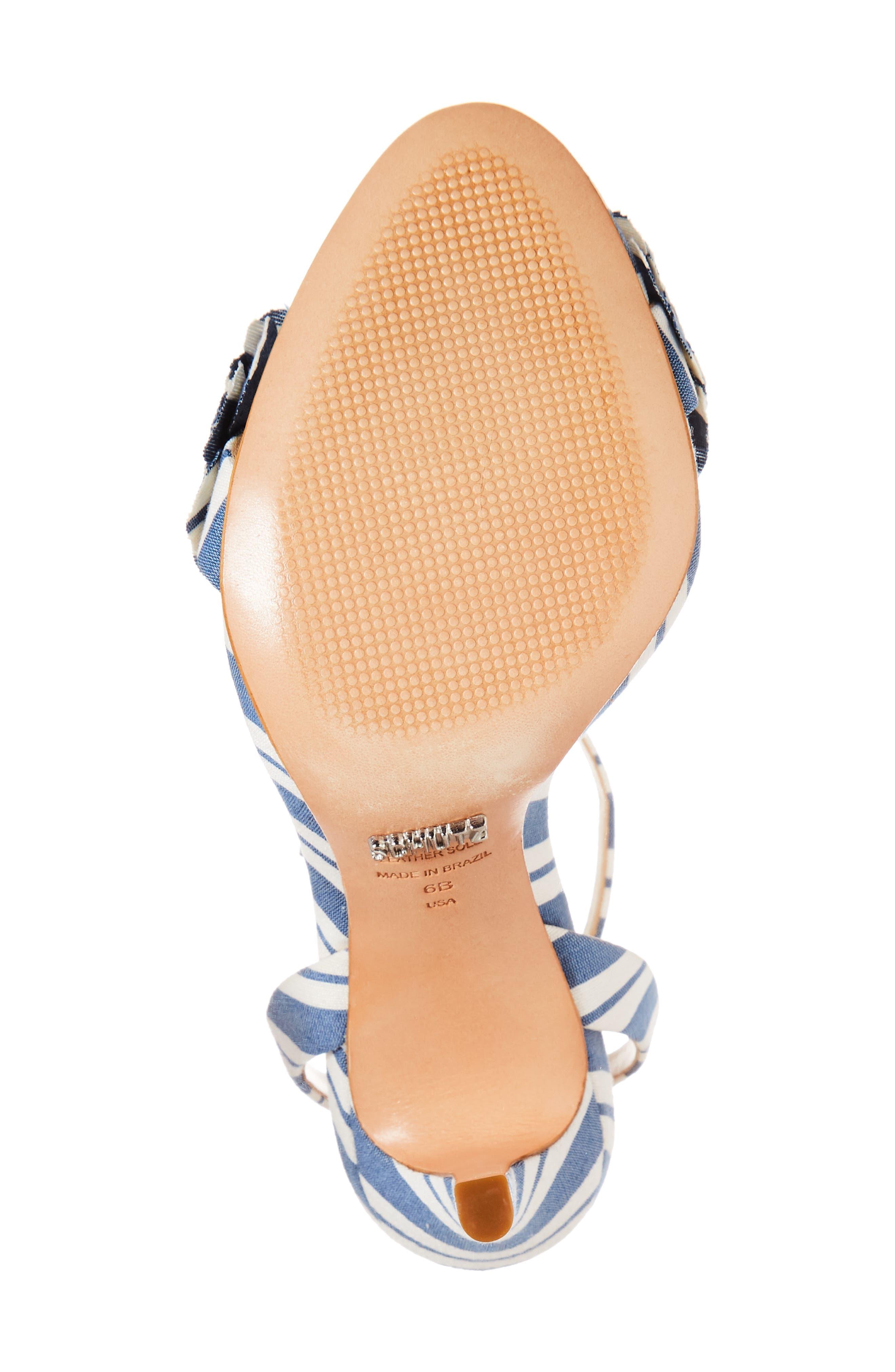 Aida Flower Appliqué Sandal,                             Alternate thumbnail 6, color,                             Dress Blue