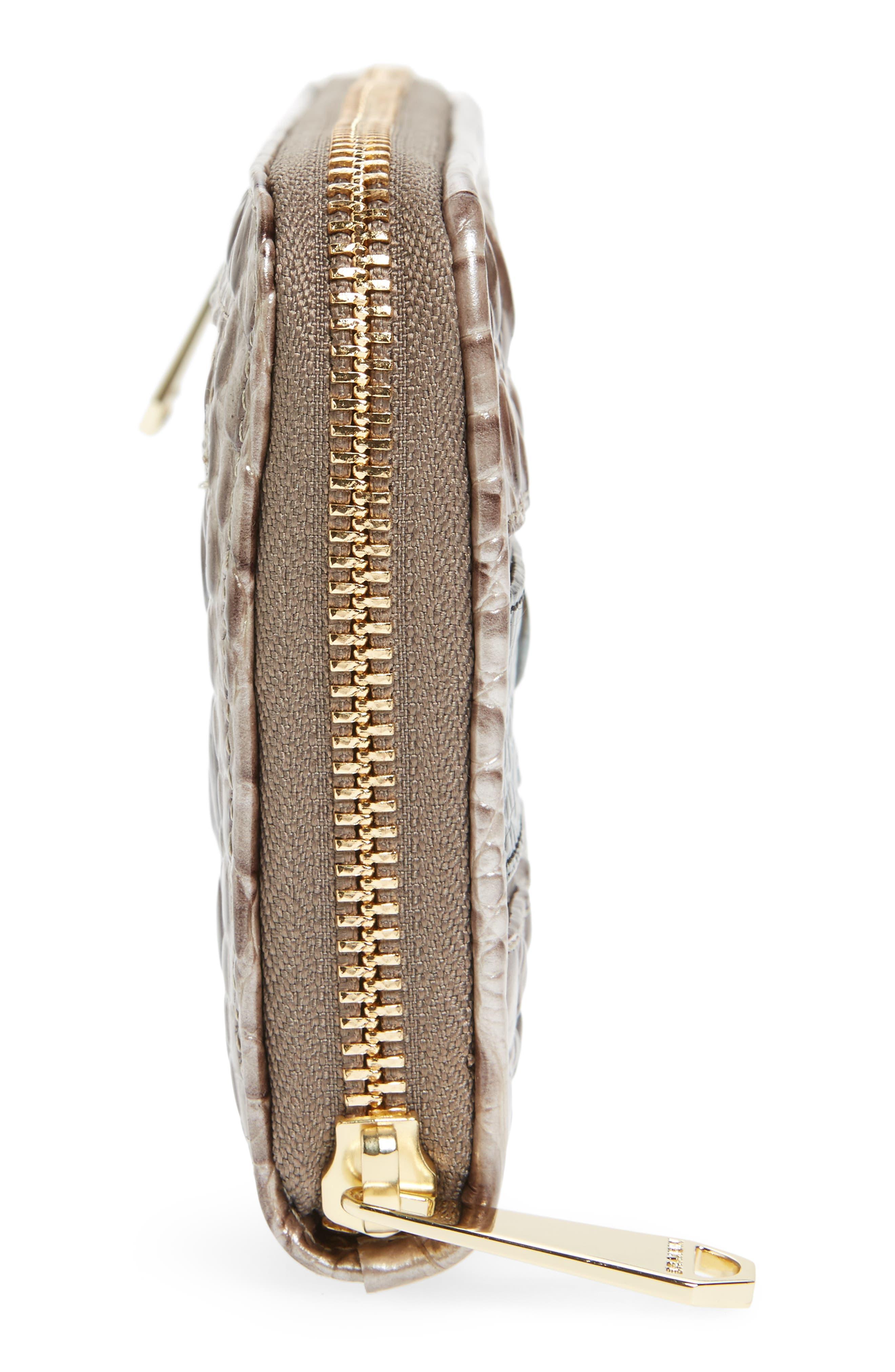 Suri Leather Zip Around Wallet,                             Alternate thumbnail 5, color,                             Chardonnay