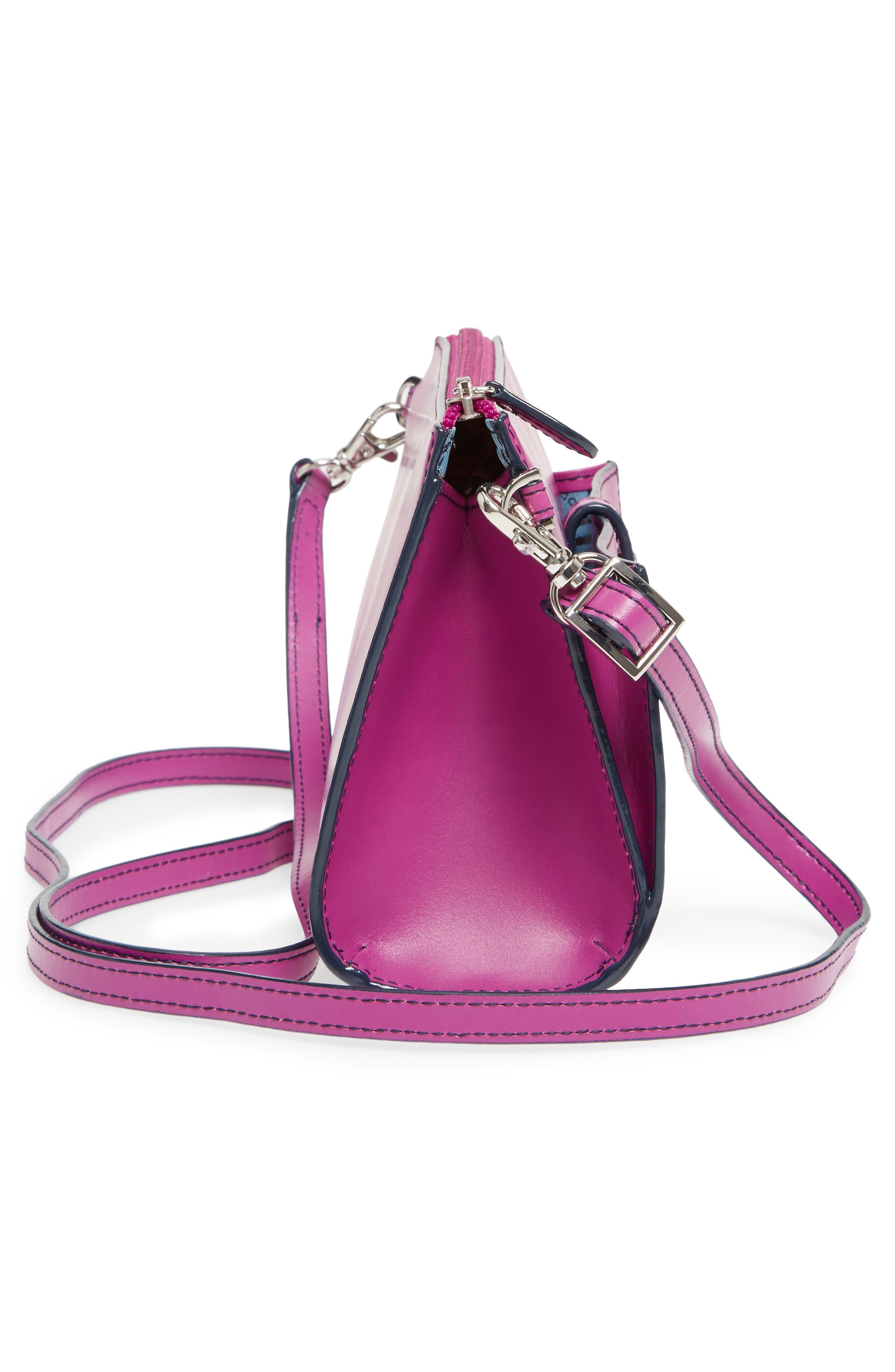 Alternate Image 5  - LODIS Audrey Under Lock & Key Vicky Convertible Leather Crossbody Bag