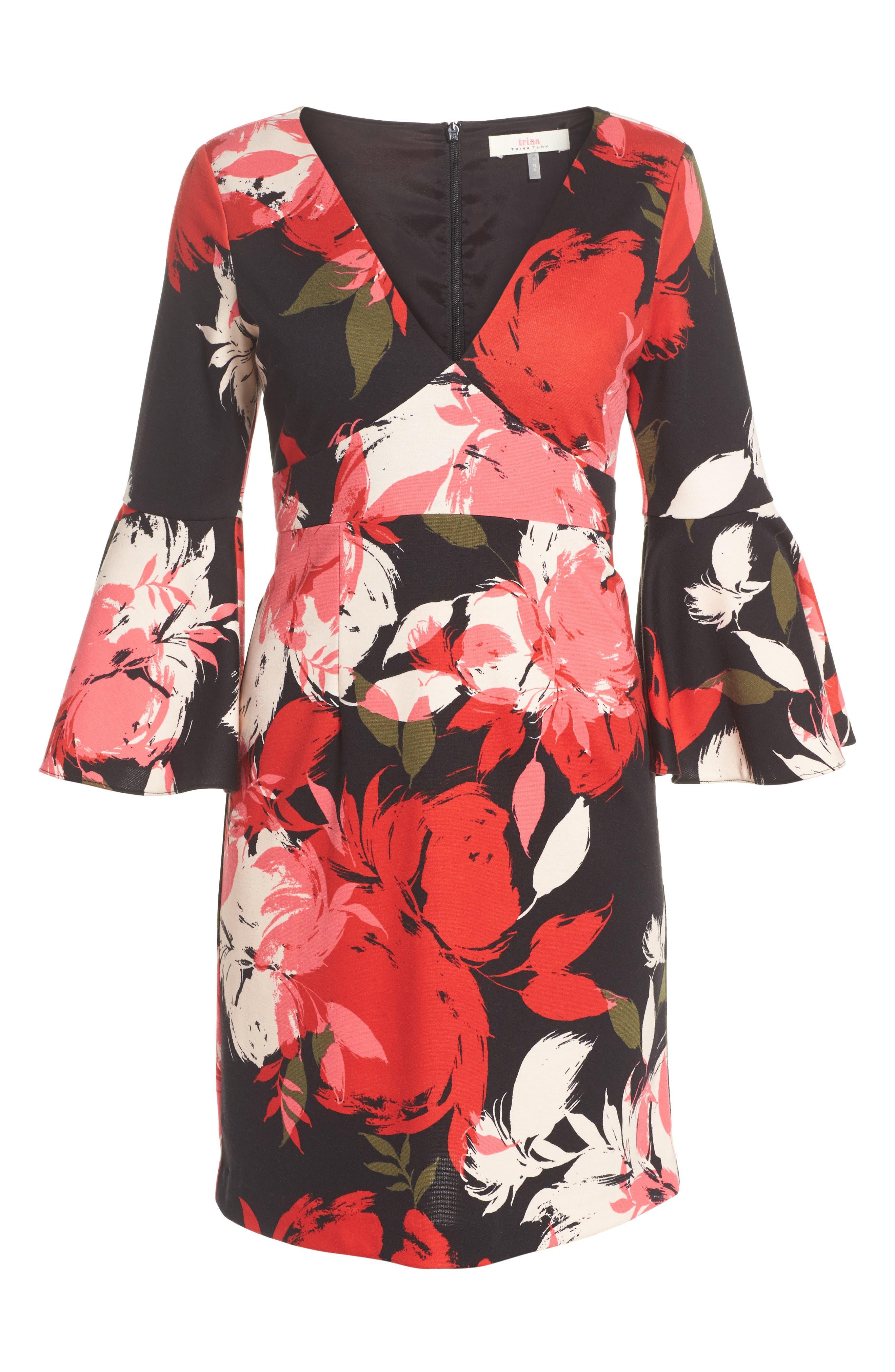 Sena A-Line Dress,                             Alternate thumbnail 6, color,                             Multi