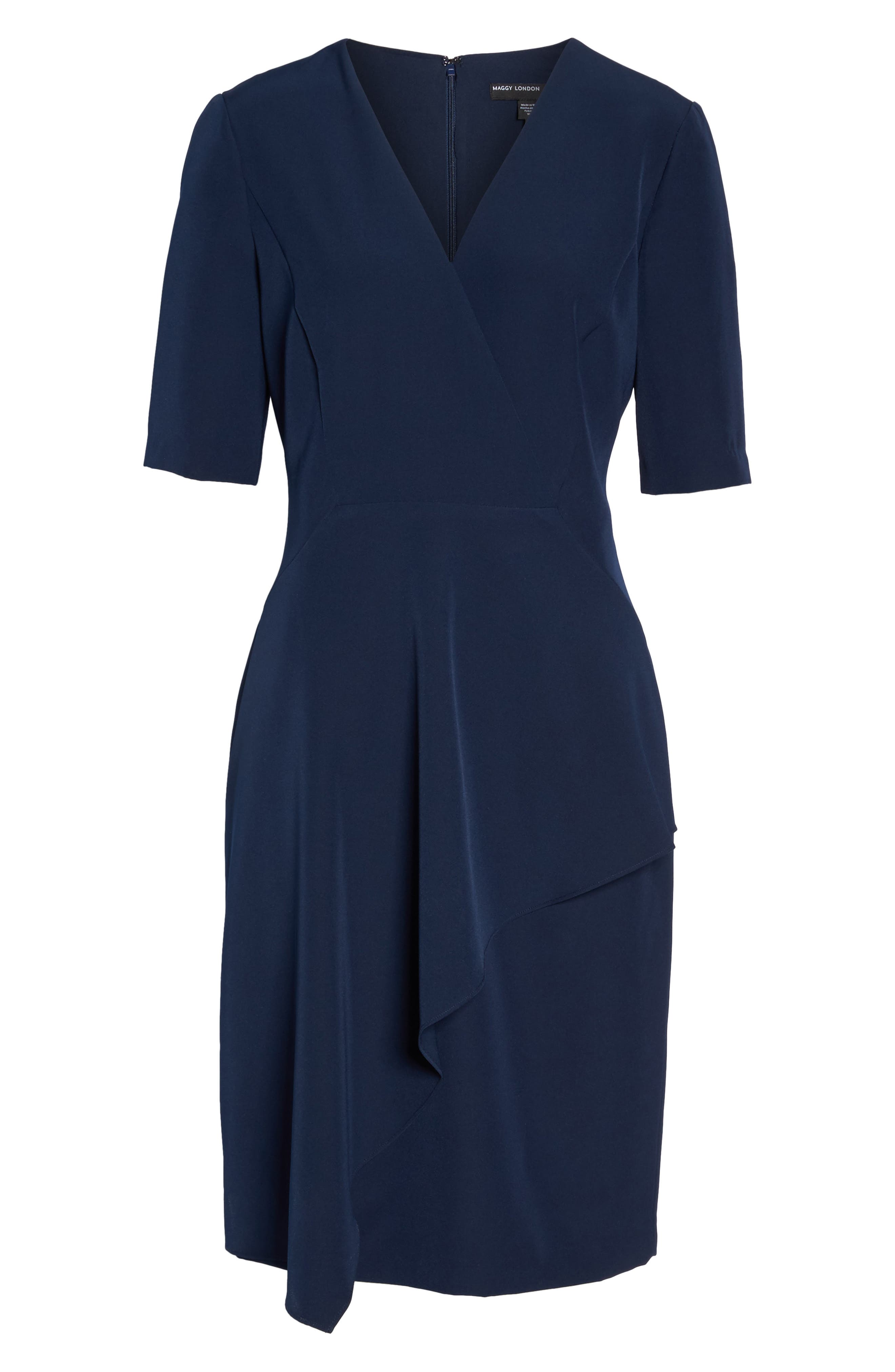 Alternate Image 6  - Maggy London Solid Dream Crepe Sheath Dress