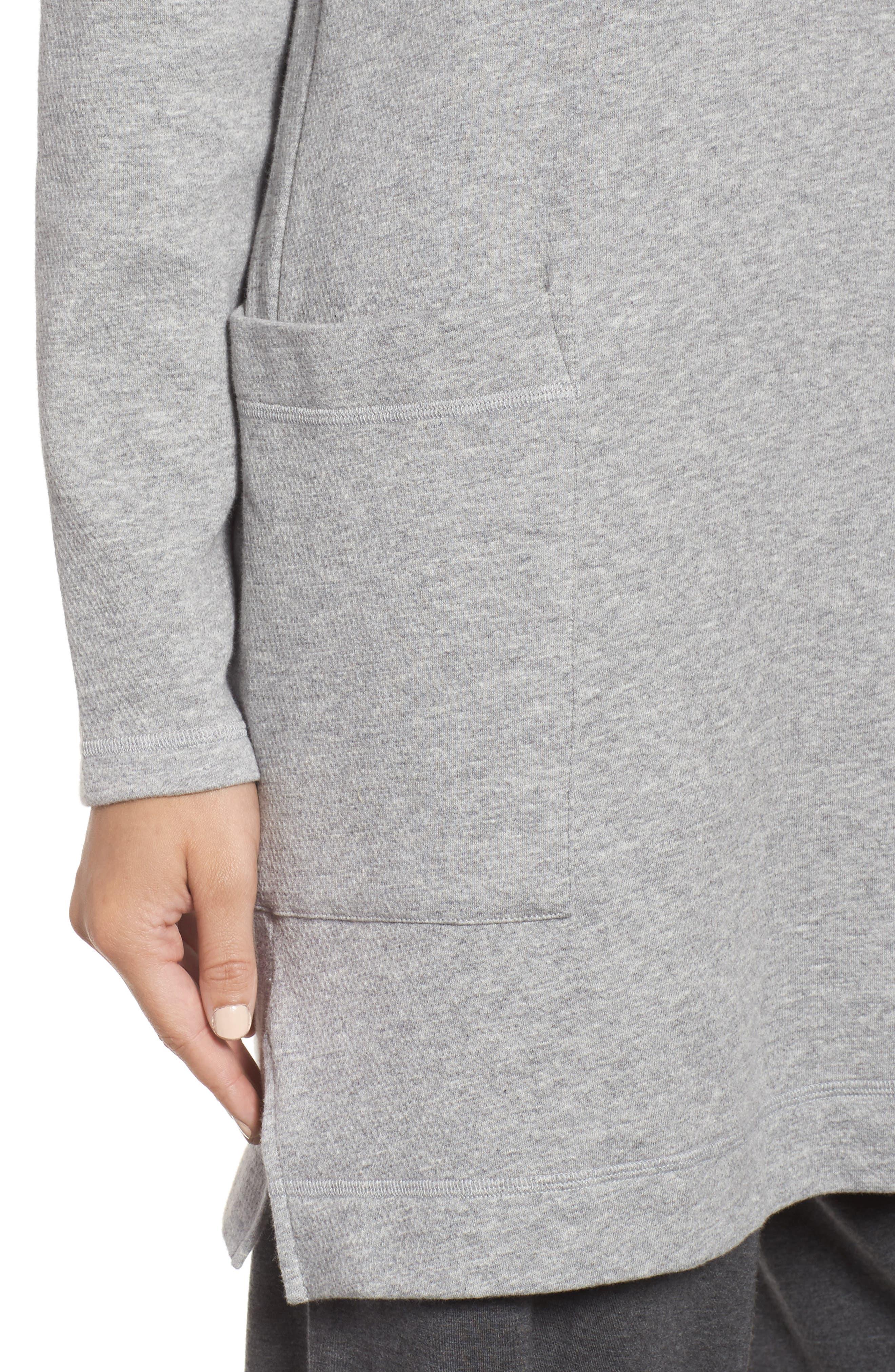 Double Knit Organic Cotton Tunic,                             Alternate thumbnail 4, color,                             Dark Pearl