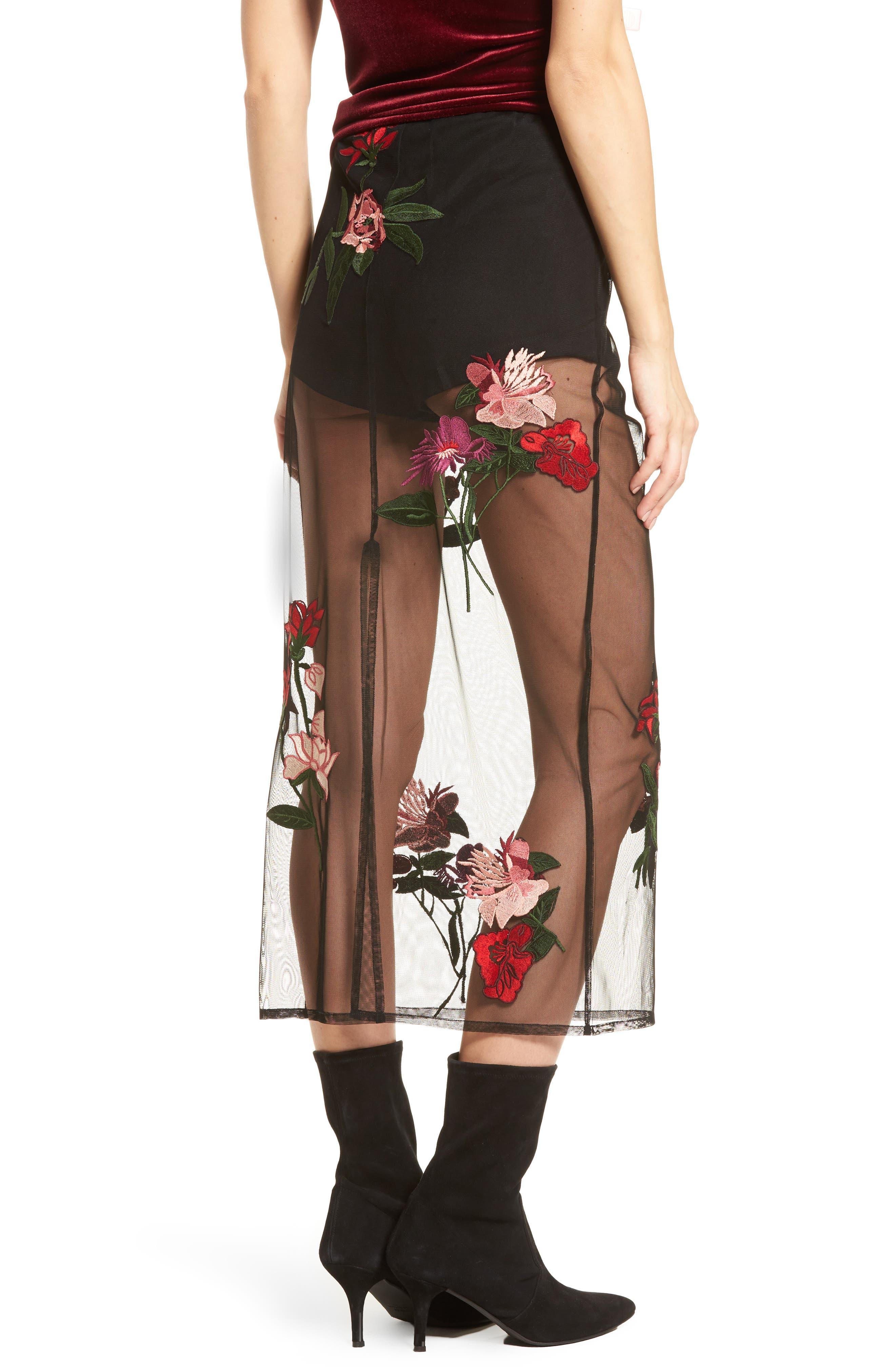 Farrow Midi Skirt,                             Alternate thumbnail 3, color,                             Black