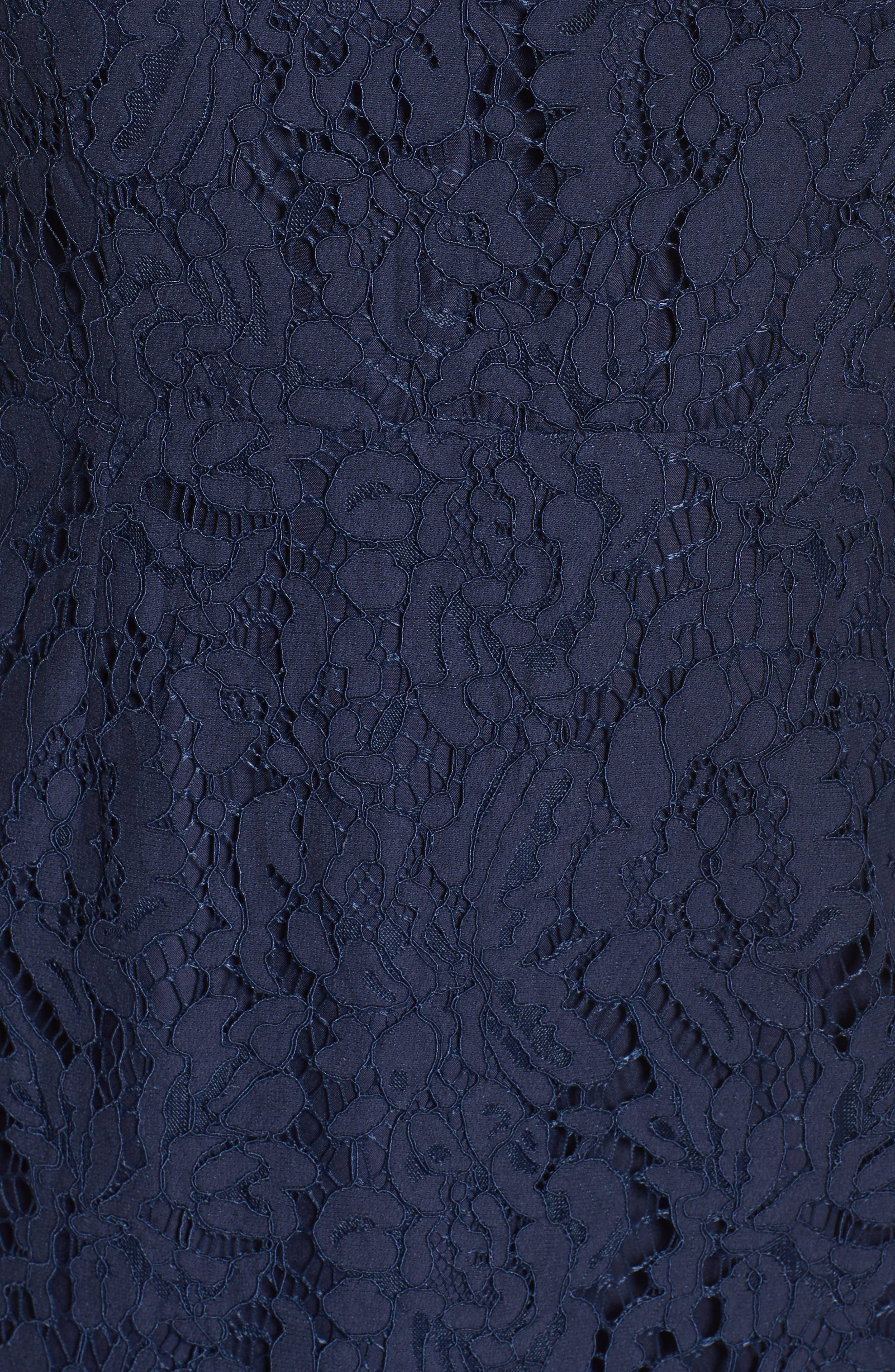 Alternate Image 5  - BB Dakota 'Cara' High Neck Lace Dress