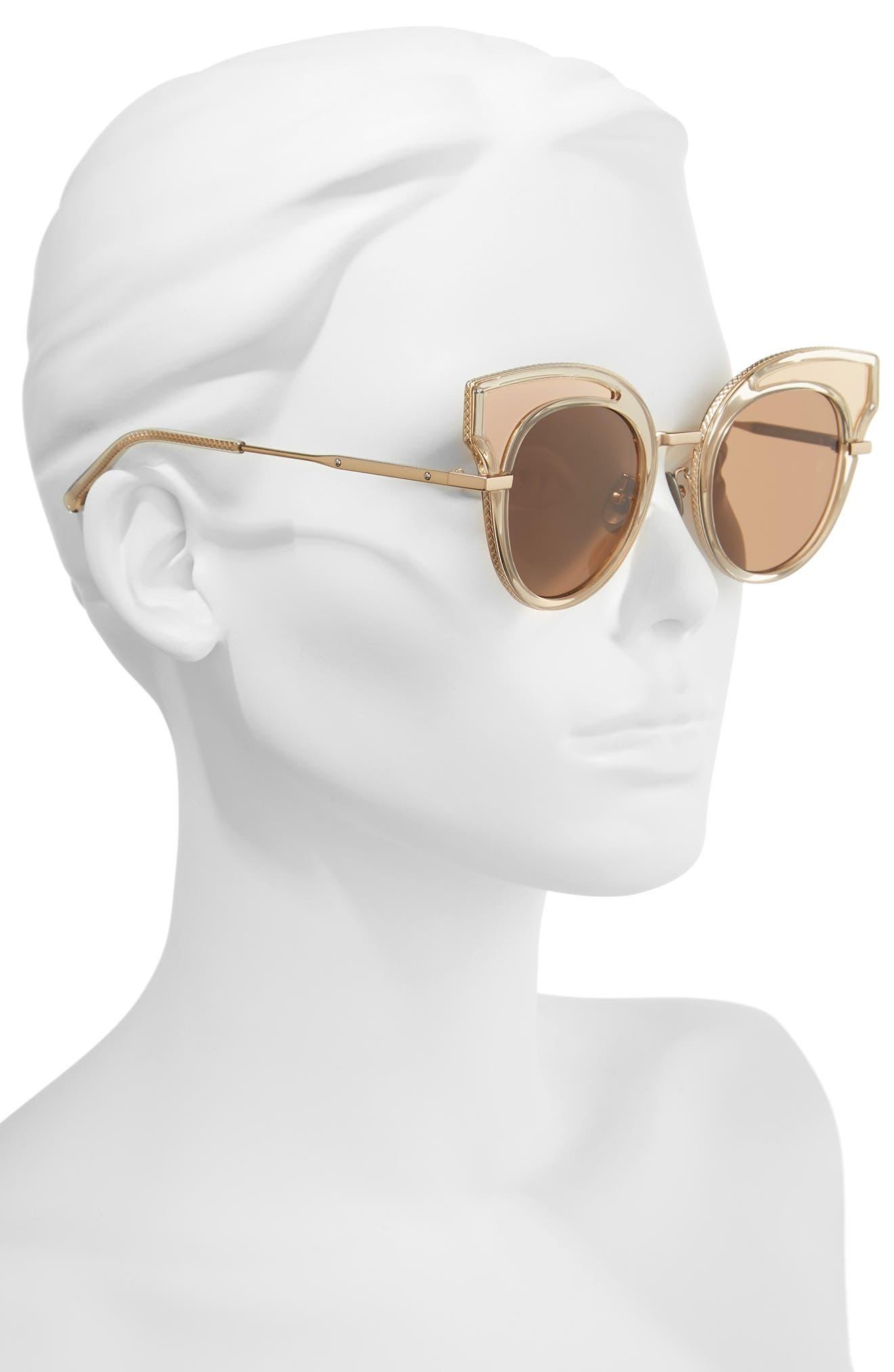 Alternate Image 2  - Bottega Veneta 49mm Cat Eye Sunglasses