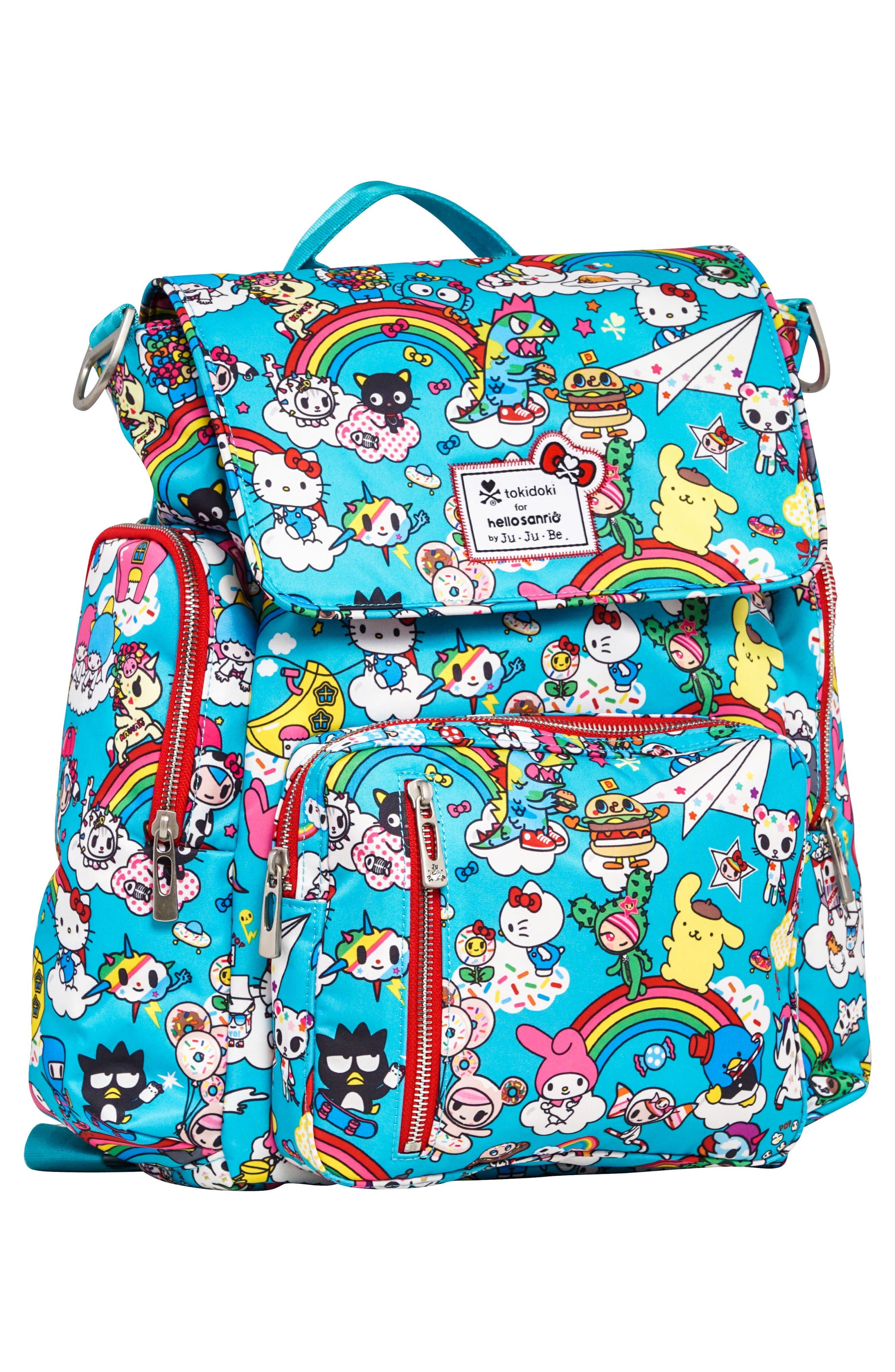 x tokidoki for Hello Sanrio Rainbow Dreams Sporty Diaper Backpack,                             Alternate thumbnail 5, color,                             Rainbow Dreams