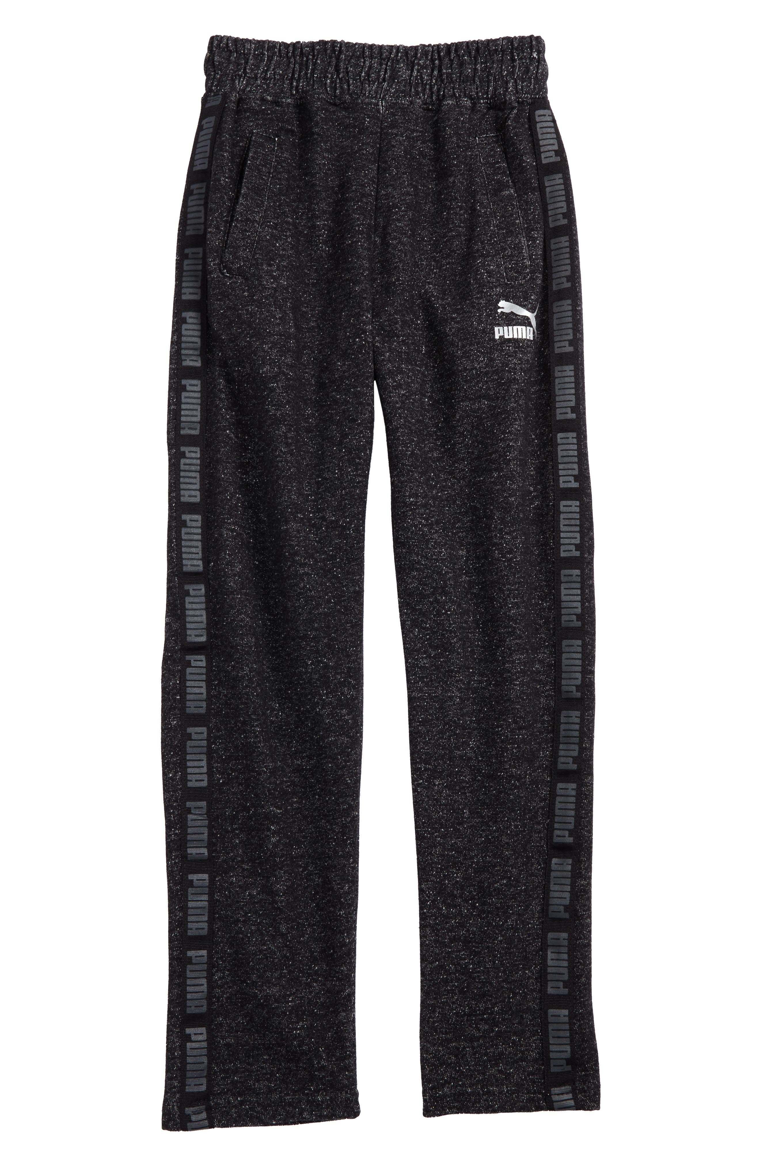 PUMA Logo Stripe Sweatpants (Big Boys)