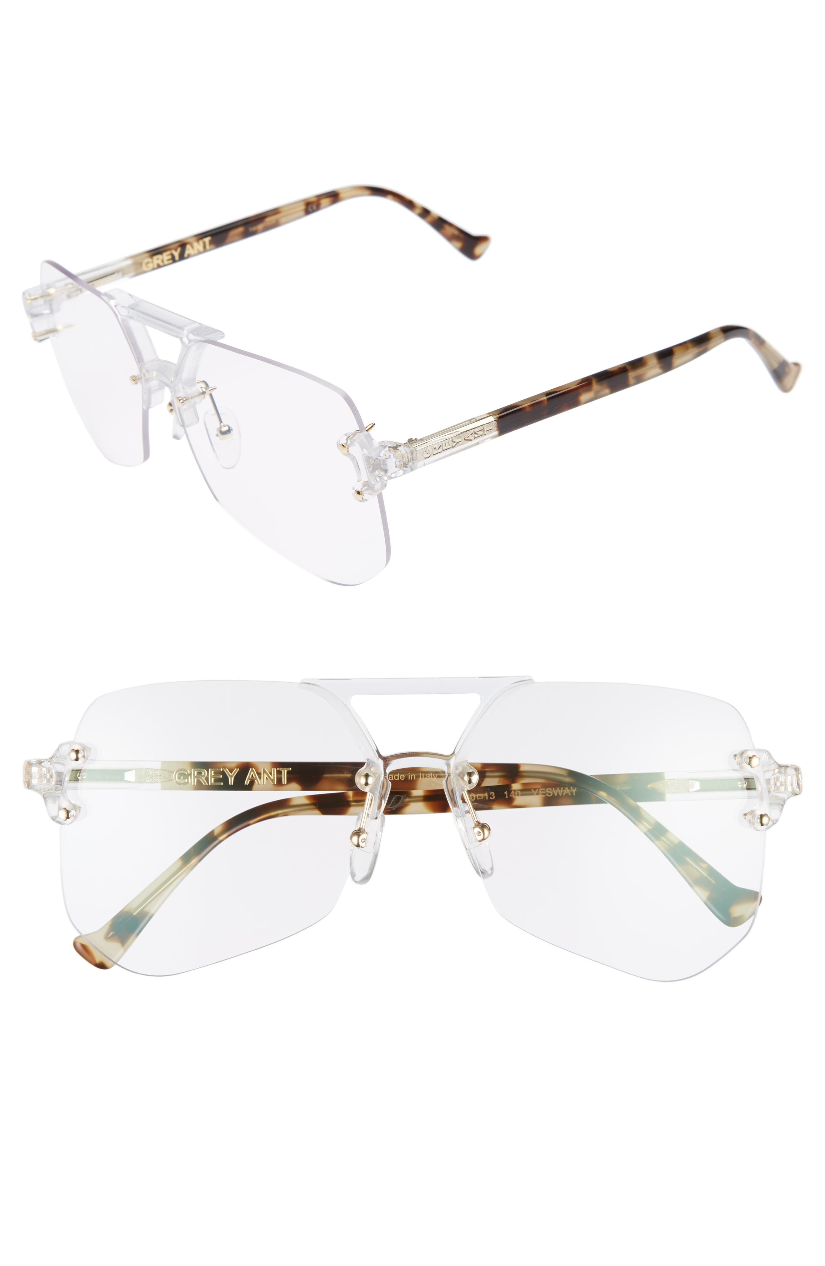 Yesway 60mm Optical Glasses,                         Main,                         color, Gold / Tortoise