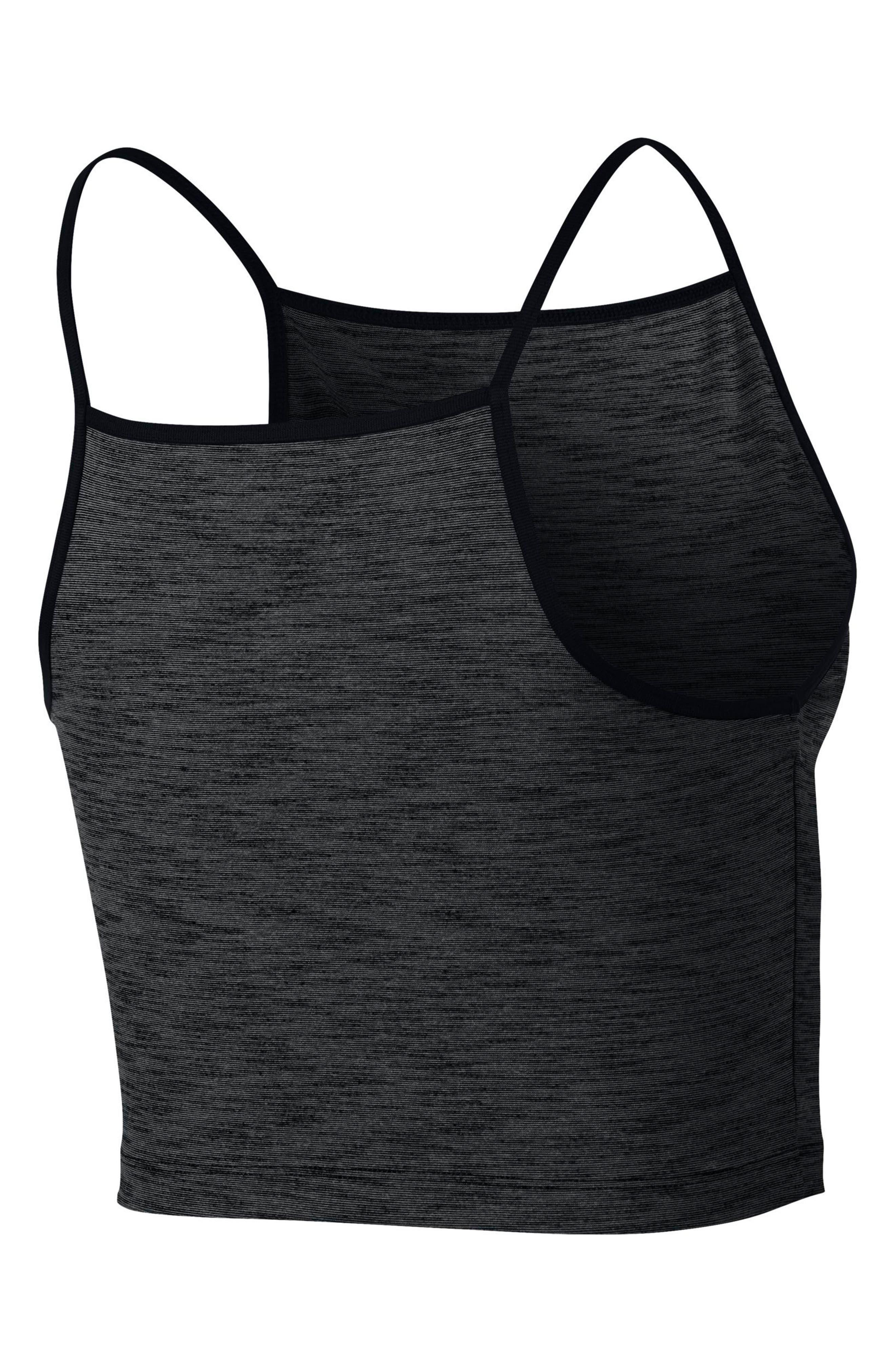 Power Women's Dry Training Tank,                             Alternate thumbnail 2, color,                             Black/ Heather/ Black