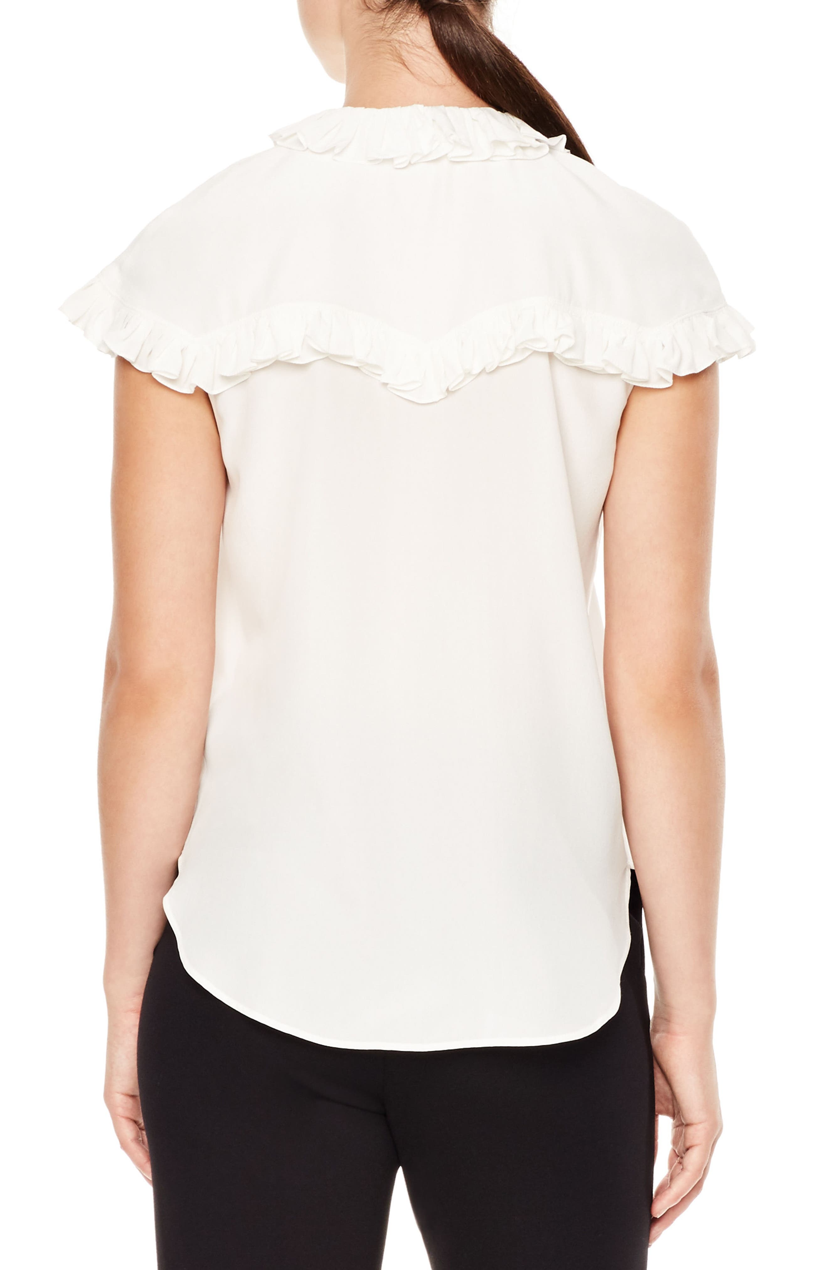 Brenda Silk Shirt,                             Alternate thumbnail 2, color,                             Ecru
