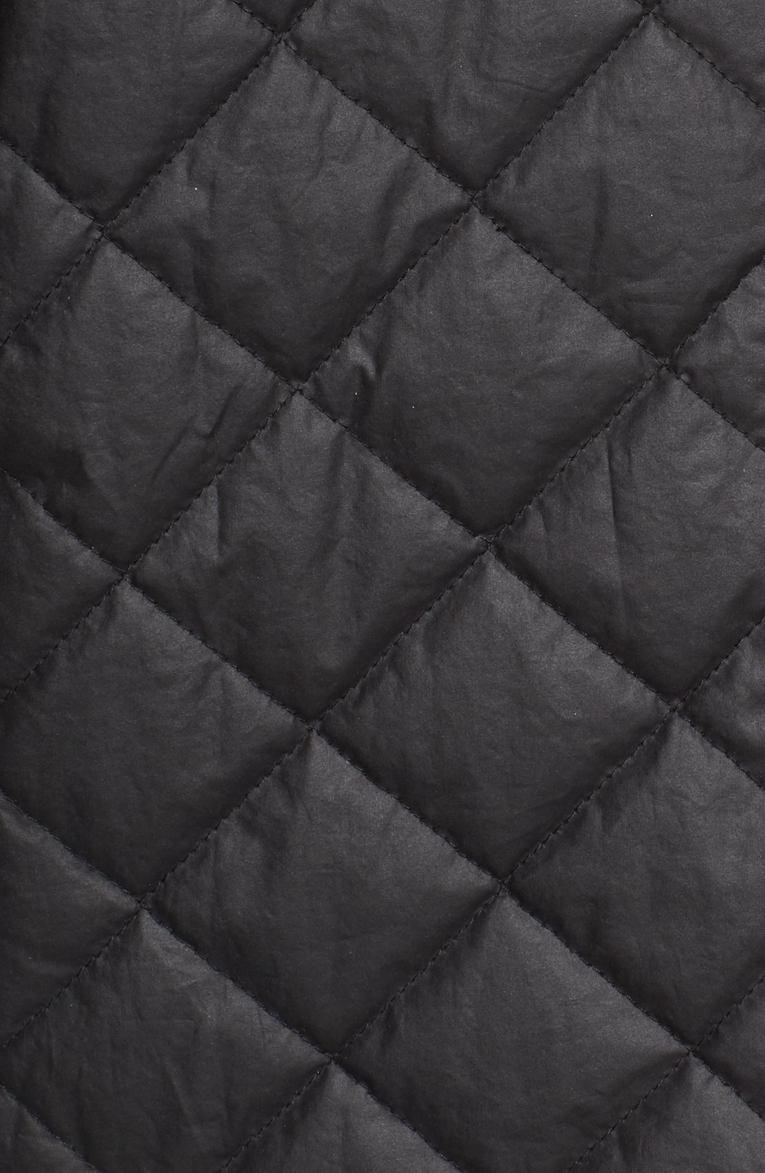 Quilted Hooded Jacket,                             Alternate thumbnail 5, color,                             Black