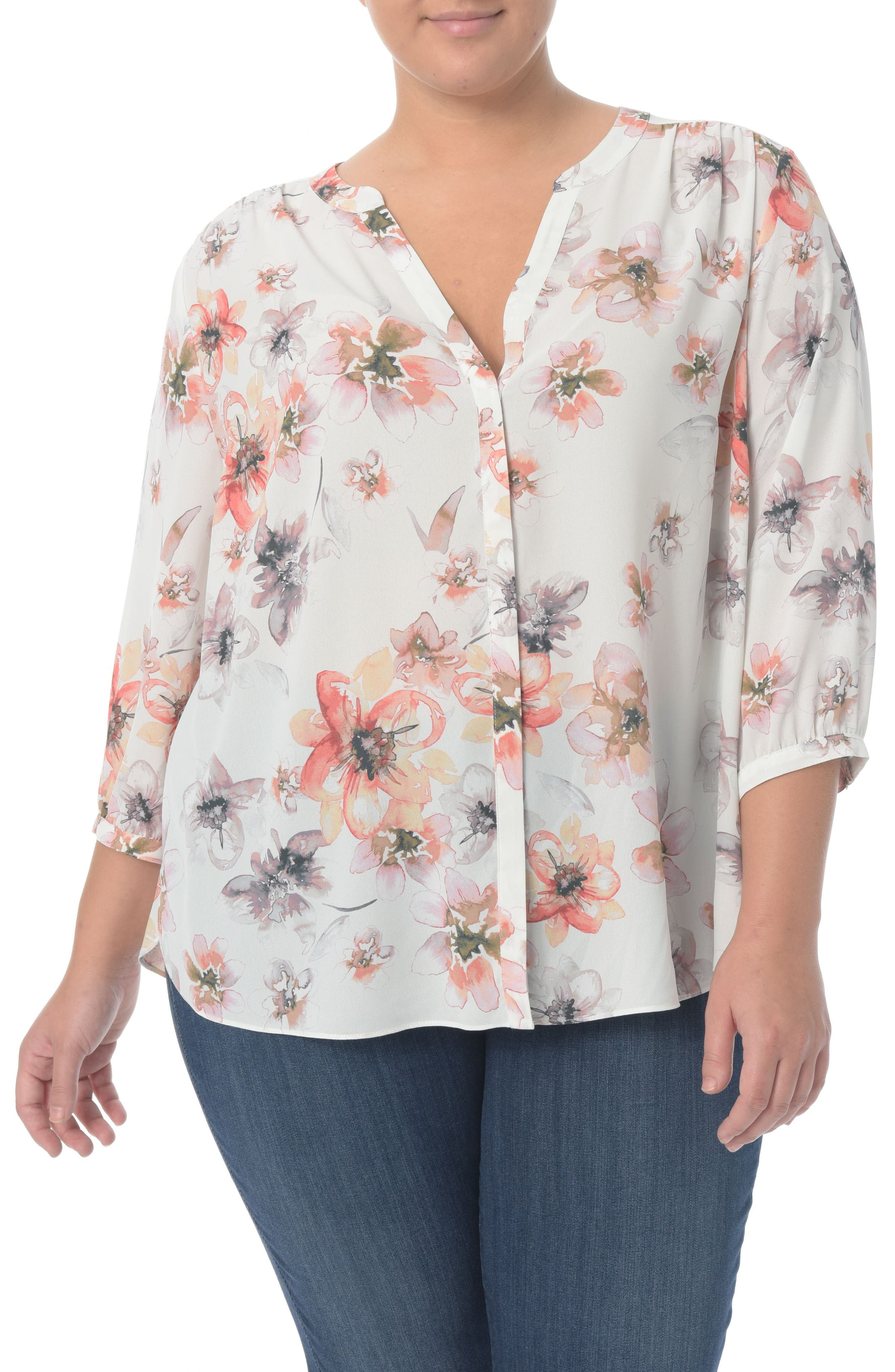 NYDJ High/Low Blouse (Plus Size)