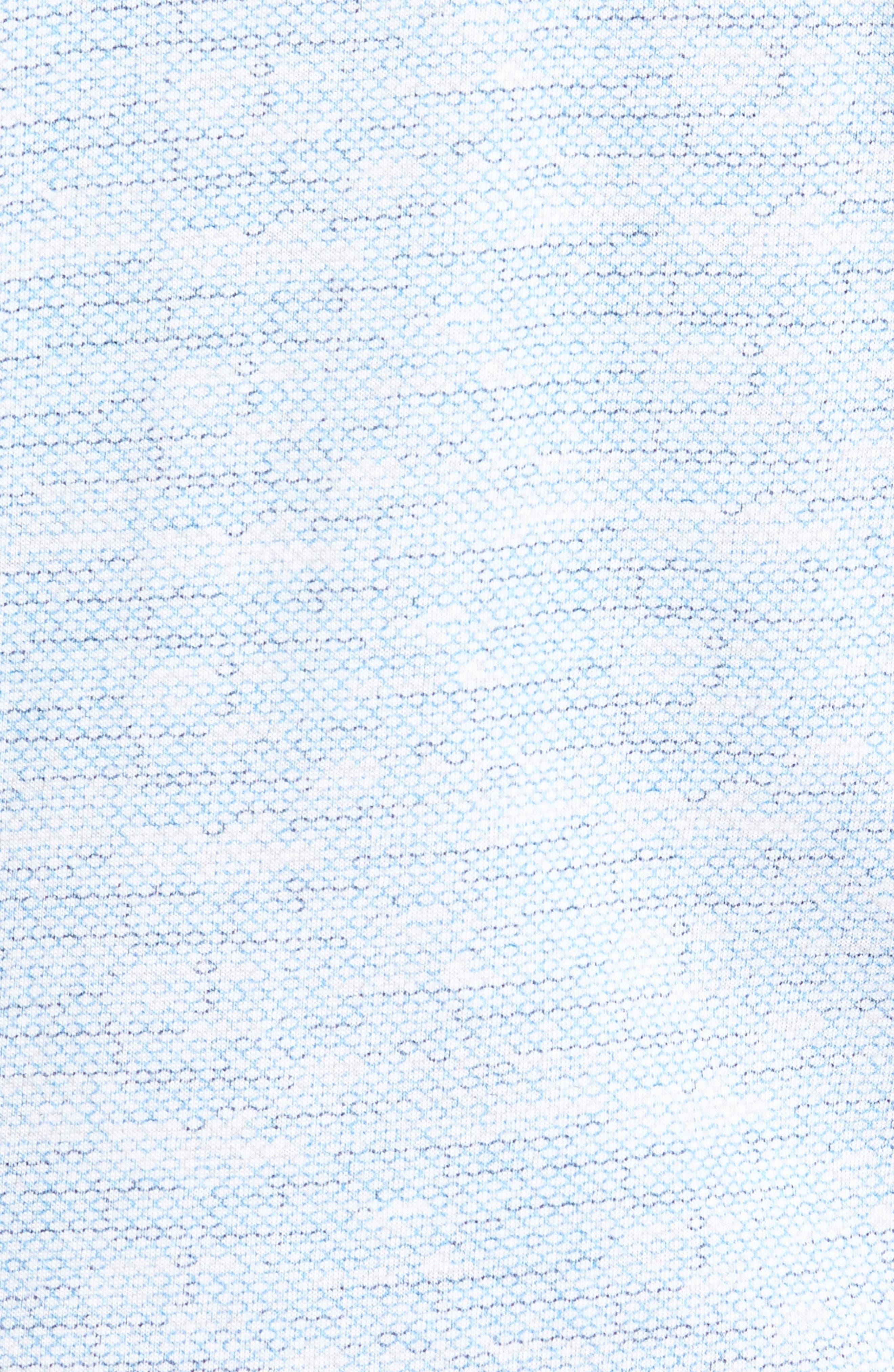 Trim Fit Mélange Sport Shirt,                             Alternate thumbnail 5, color,                             Blue