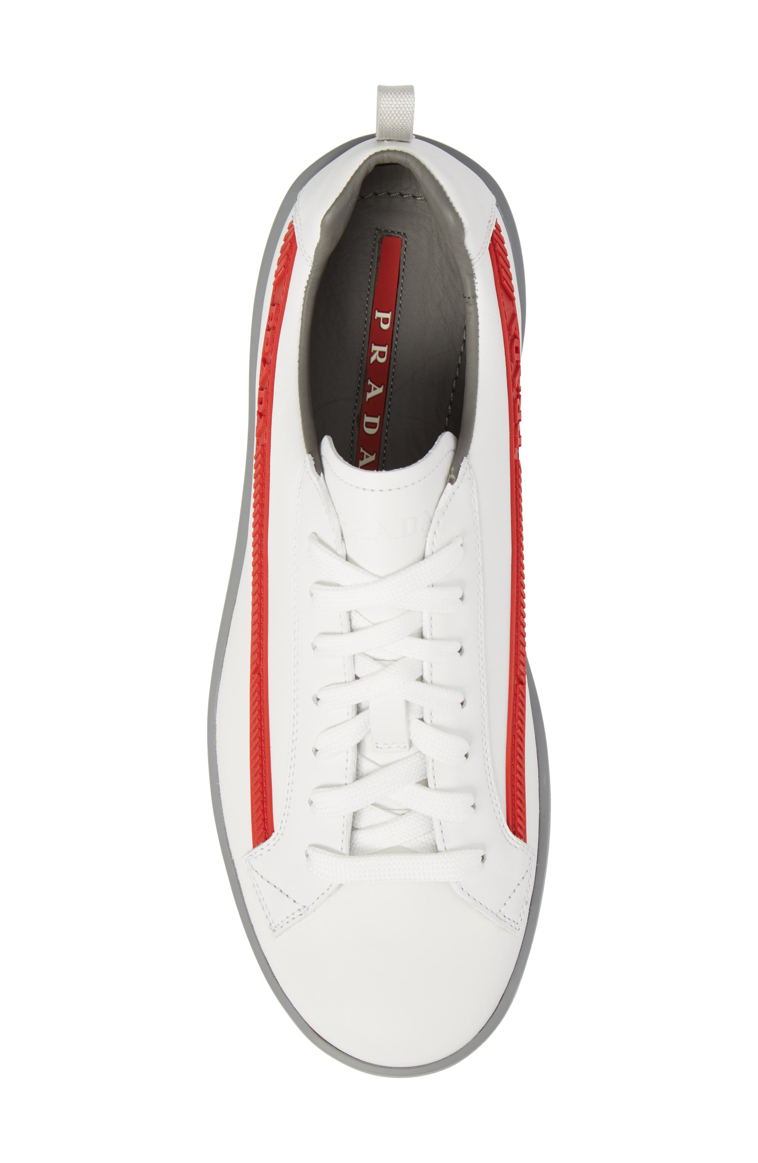 Linea Rossa Sneaker,                             Alternate thumbnail 5, color,                             Bianco