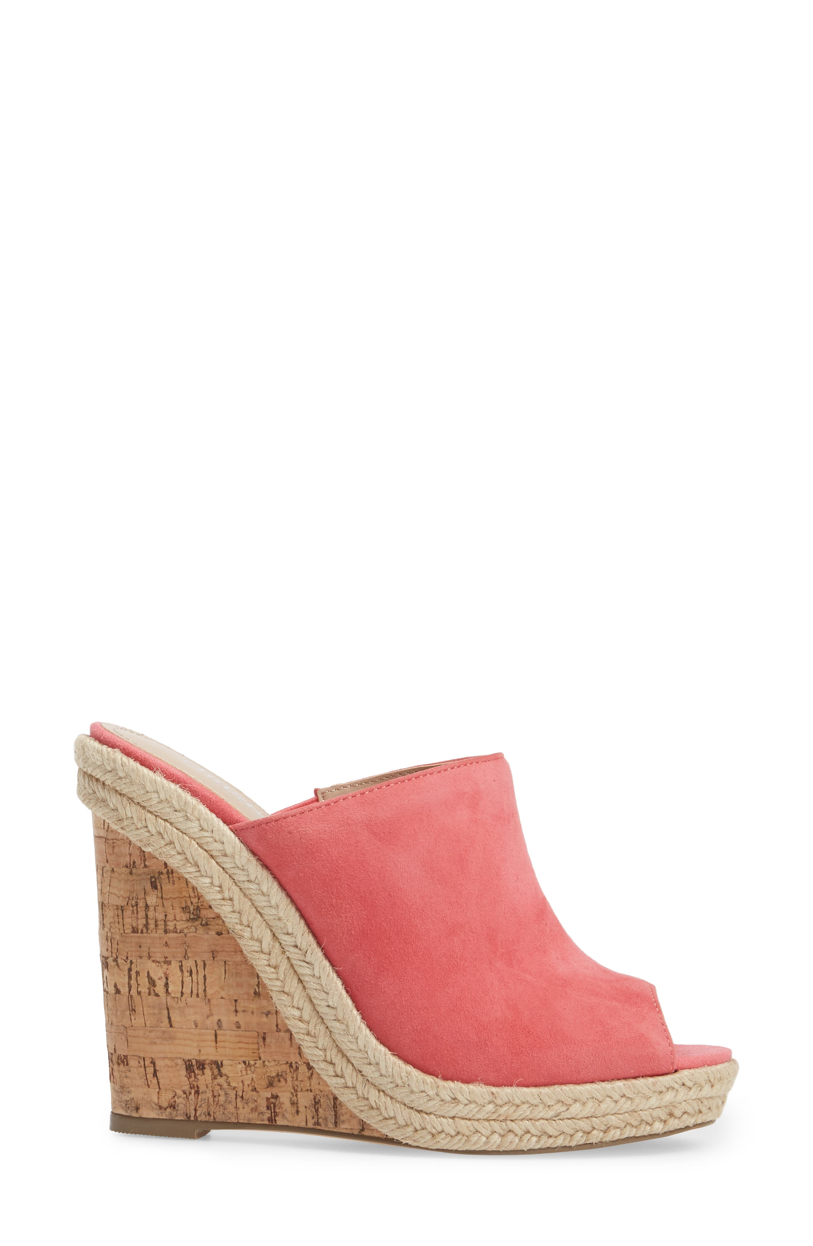 Balen Wedge,                             Alternate thumbnail 3, color,                             Coral Suede