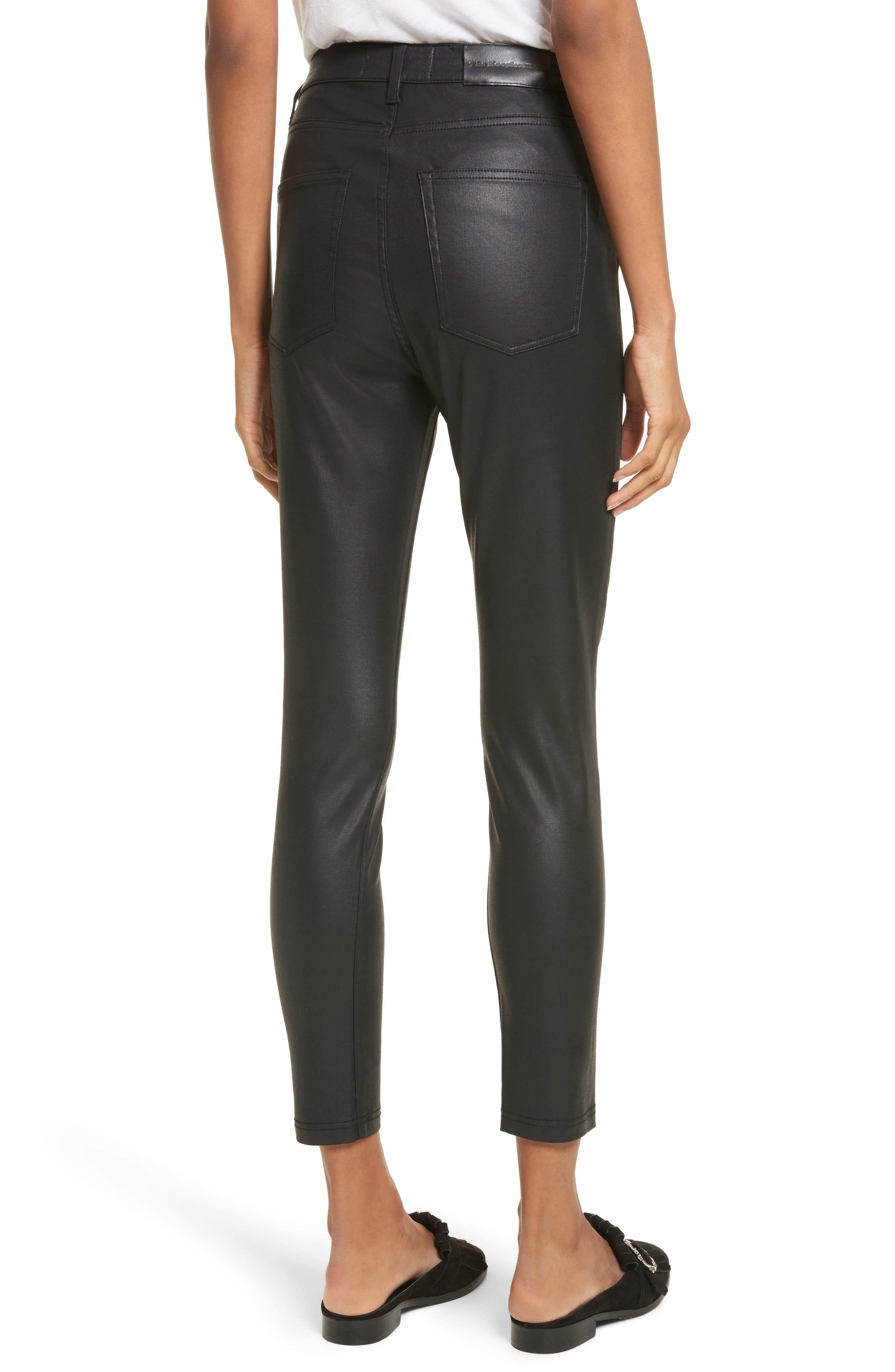 Alternate Image 2  - The Kooples Coated Stretch Ankle Skinny Jeans